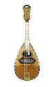 Prächtige italienische Mandoline, Rundmandoline, Ermelinda Silvestri, um 1900