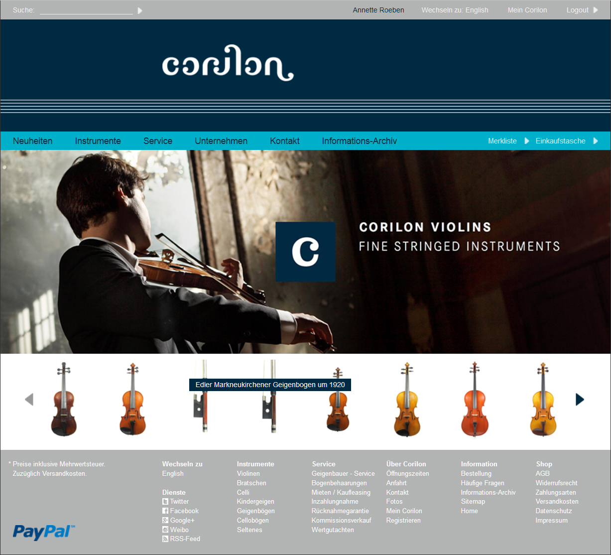 Corilon screenshot
