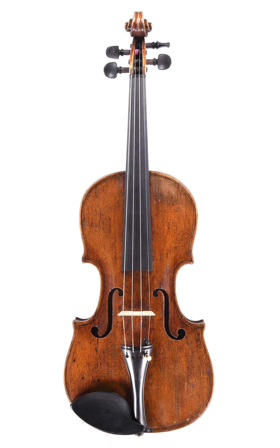 Interesting master violin, 18th century probably Flemish