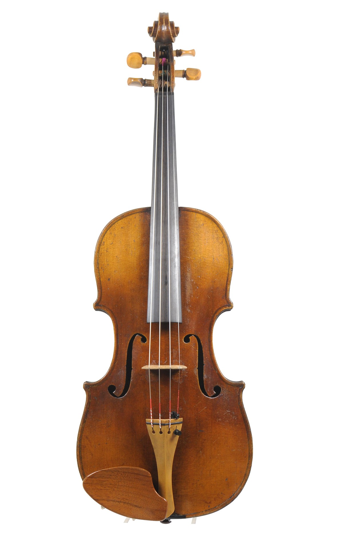 19th century Klingenthal Hopf violin for small handed players - table