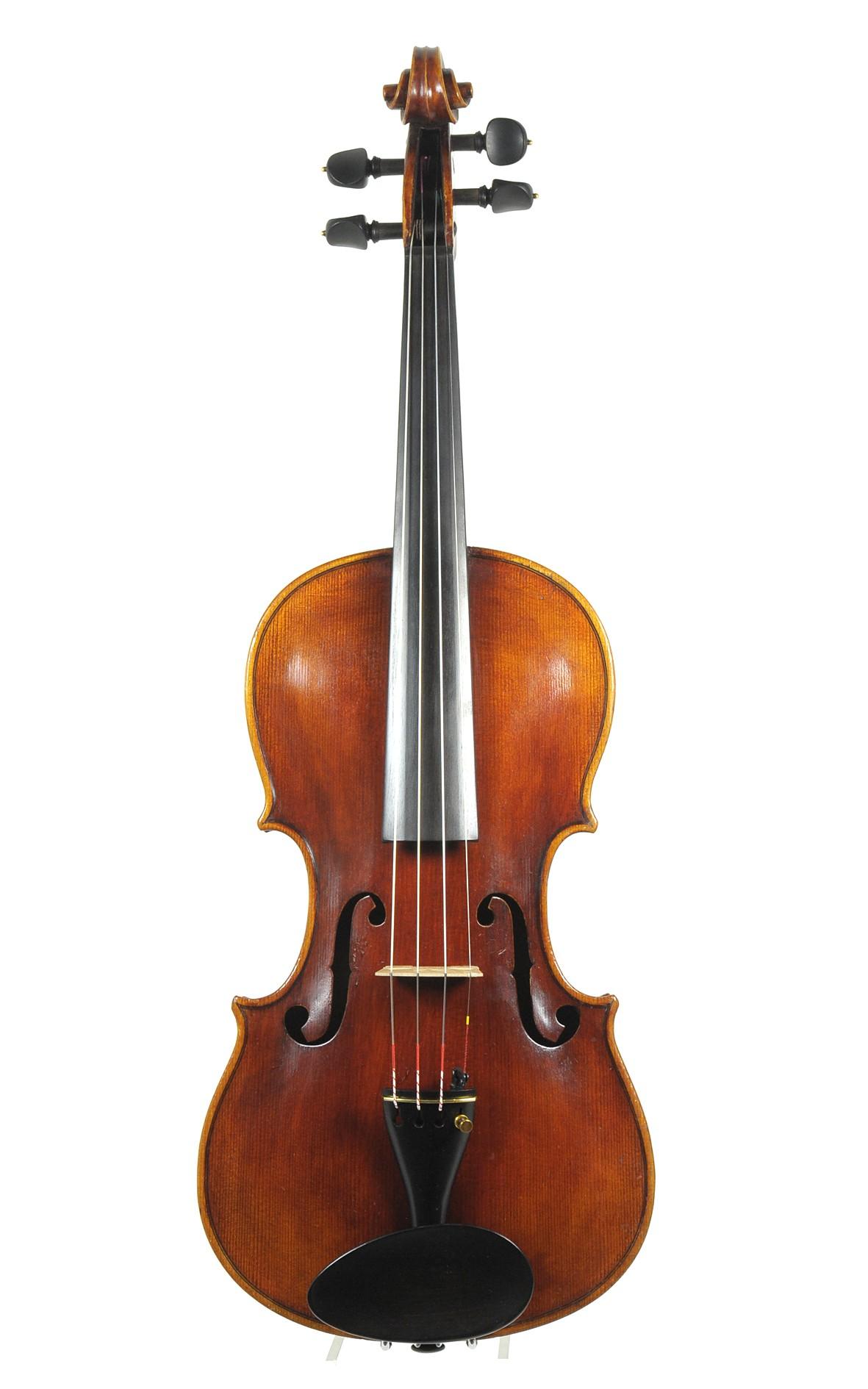 C. A. Wunderlich violin, ca. 1920 - top