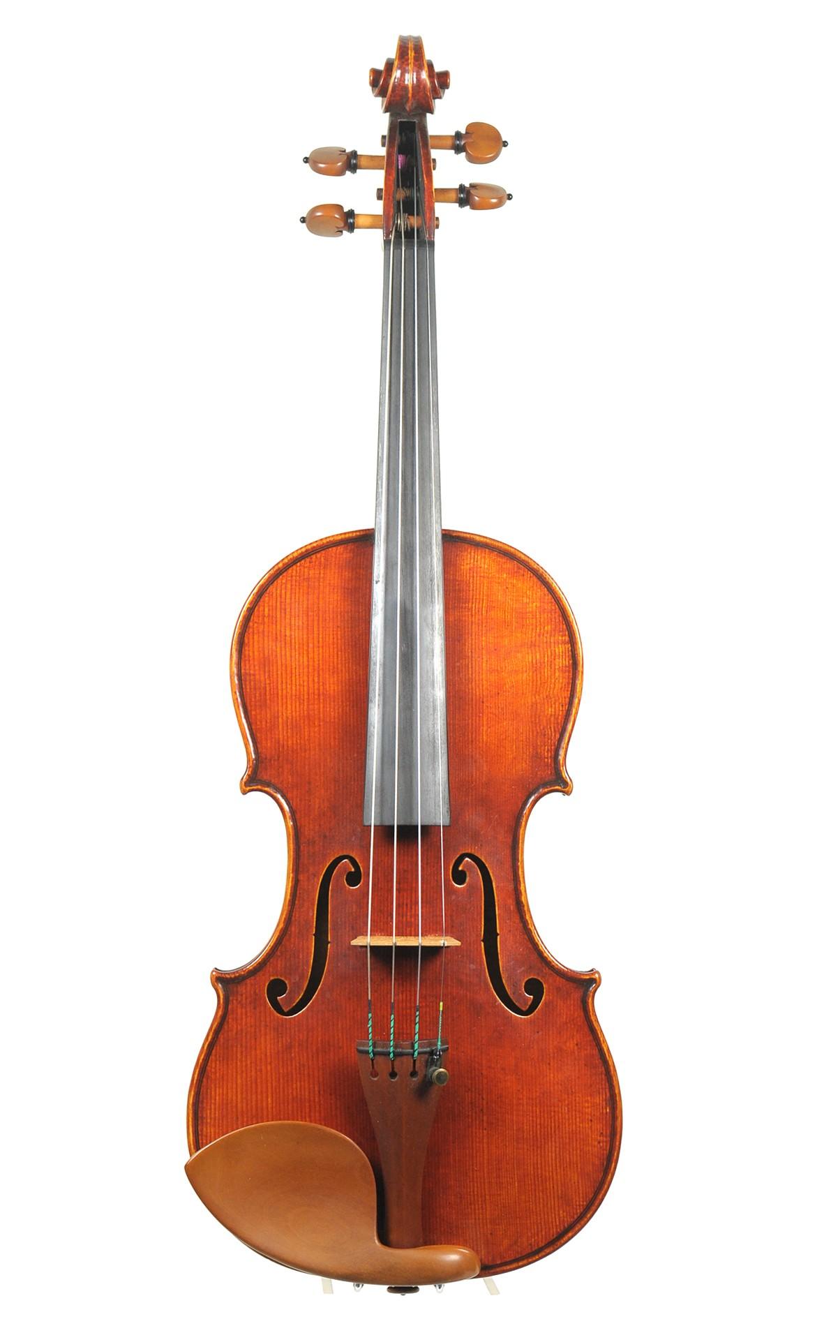 Contemporary English master violin, after Guarneri, Victor Unsworth - top
