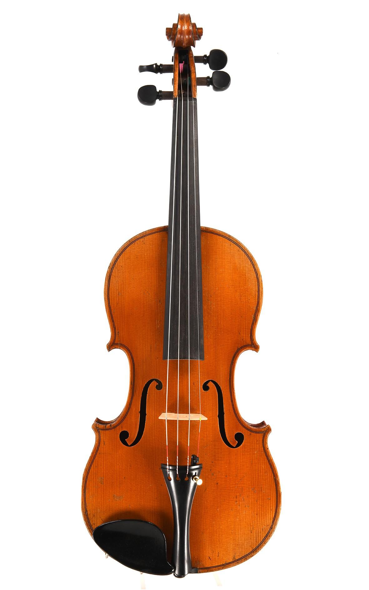 """Interessante französische Geige, Etikett """"Lafleur Paris and London"""""""