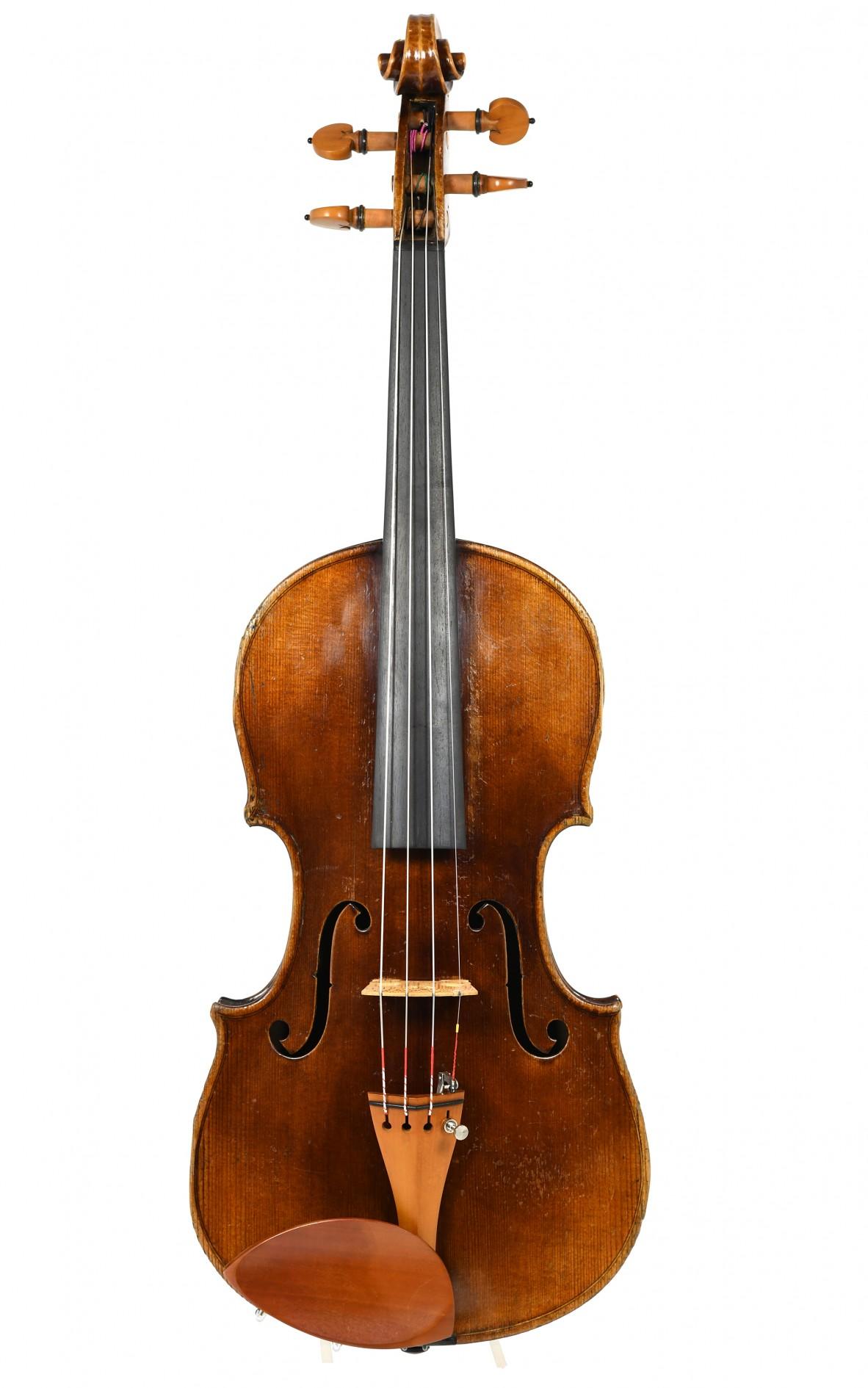 Friedrich August Meisel, violin 1910 - table