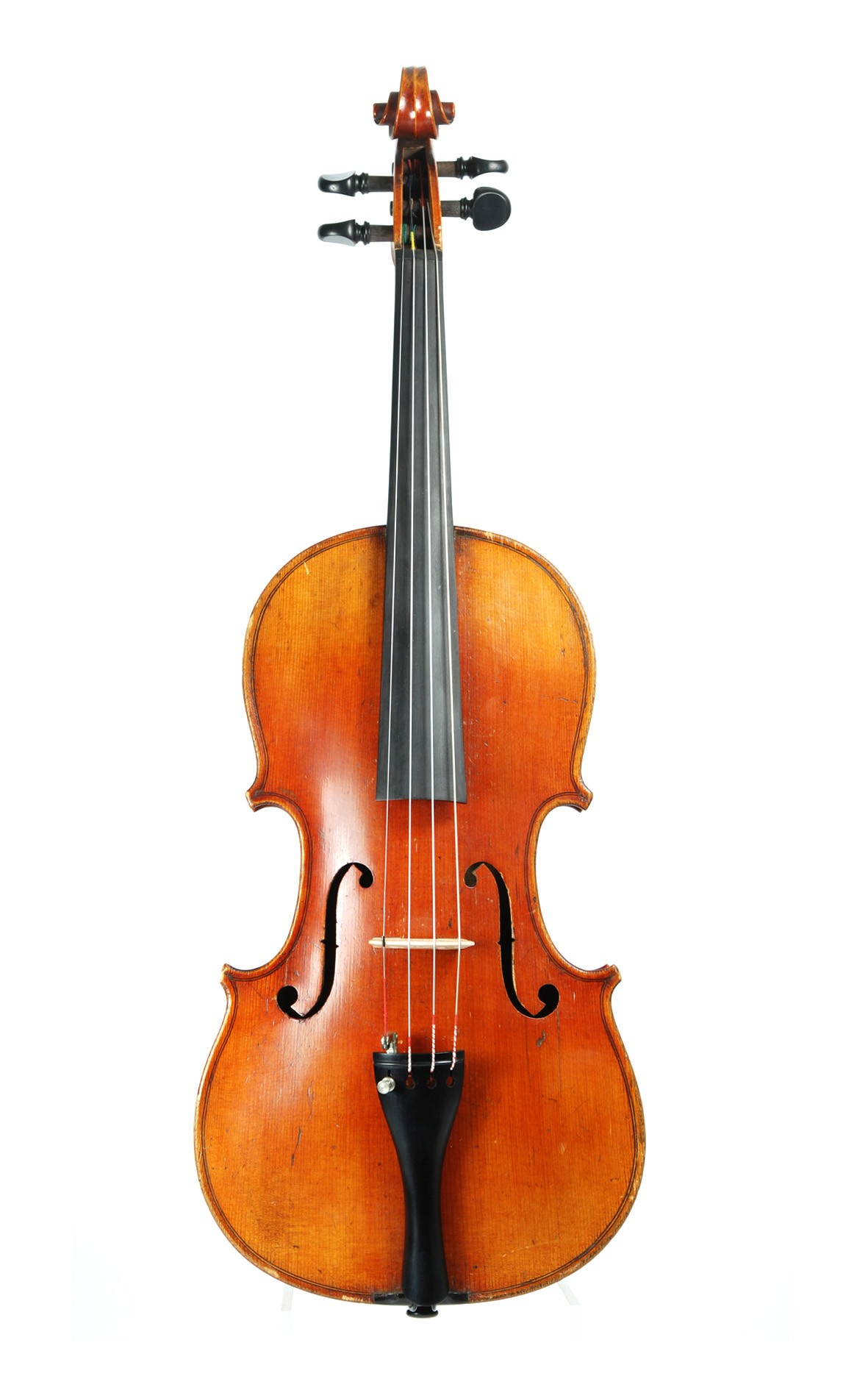 Left handed MIttenwald violin, top view
