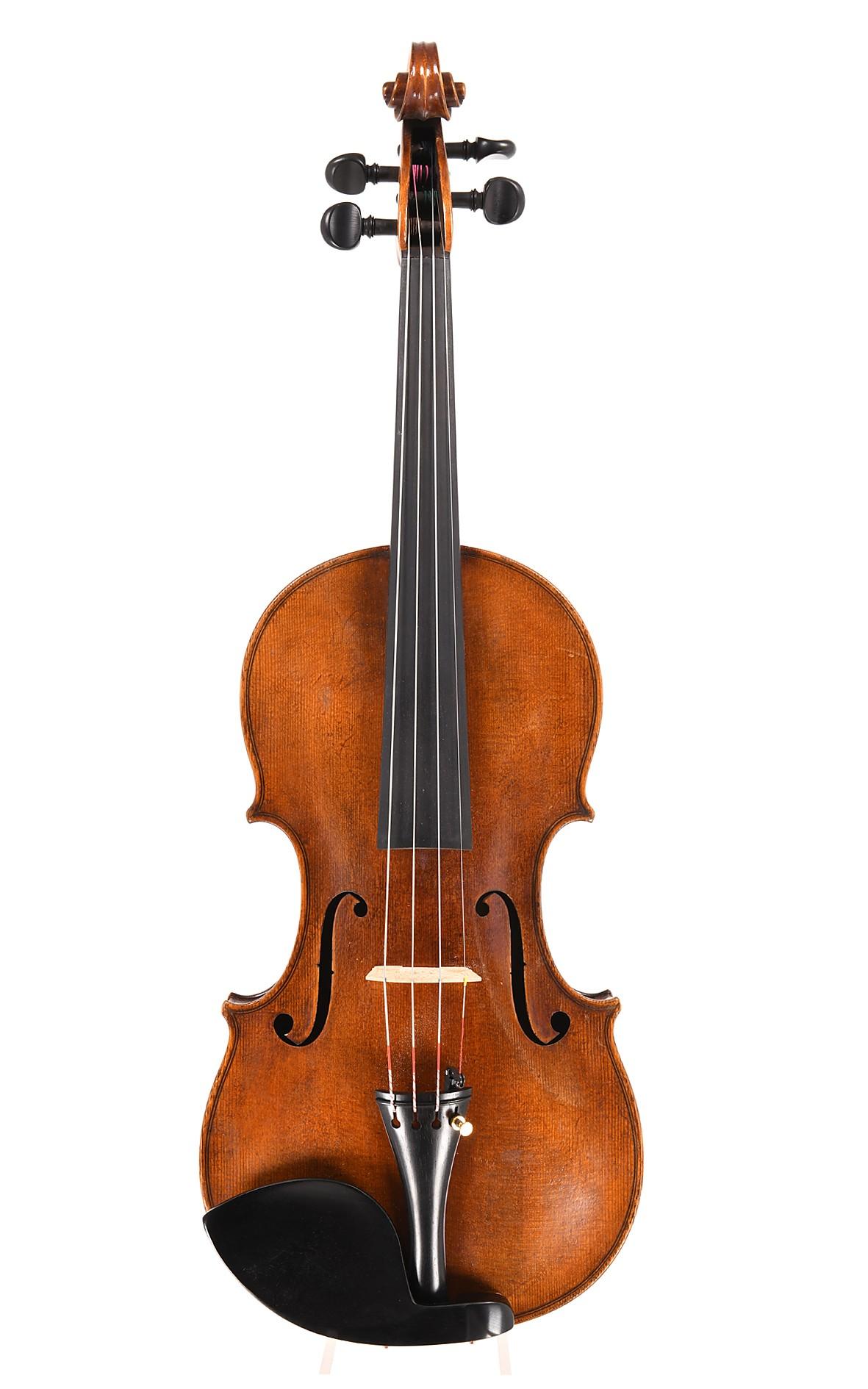 Attractive Markneukirchen master violin, c. 1920 - top
