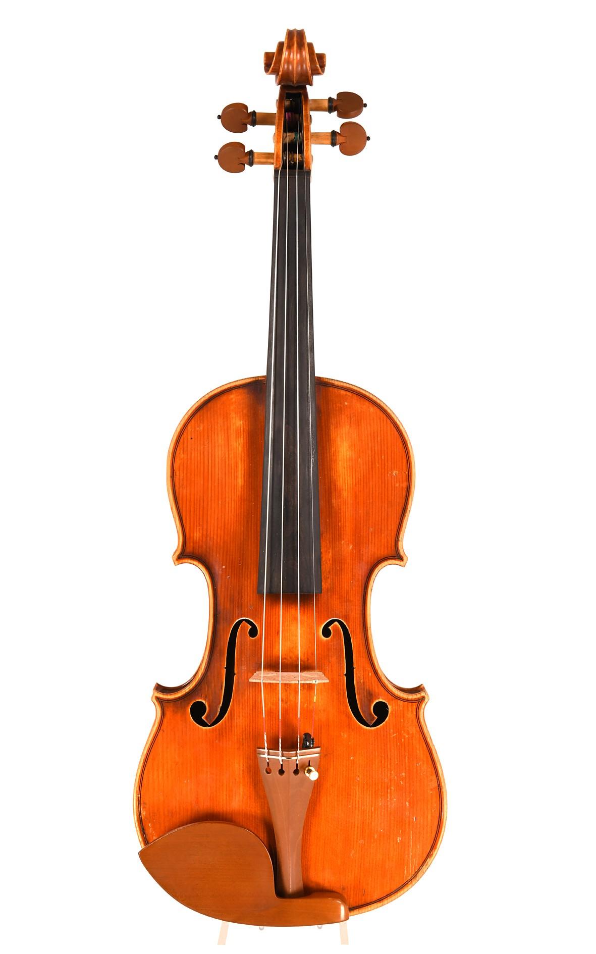 Interessante Violine von Alajos Werner, Budapest 1910 - Decke