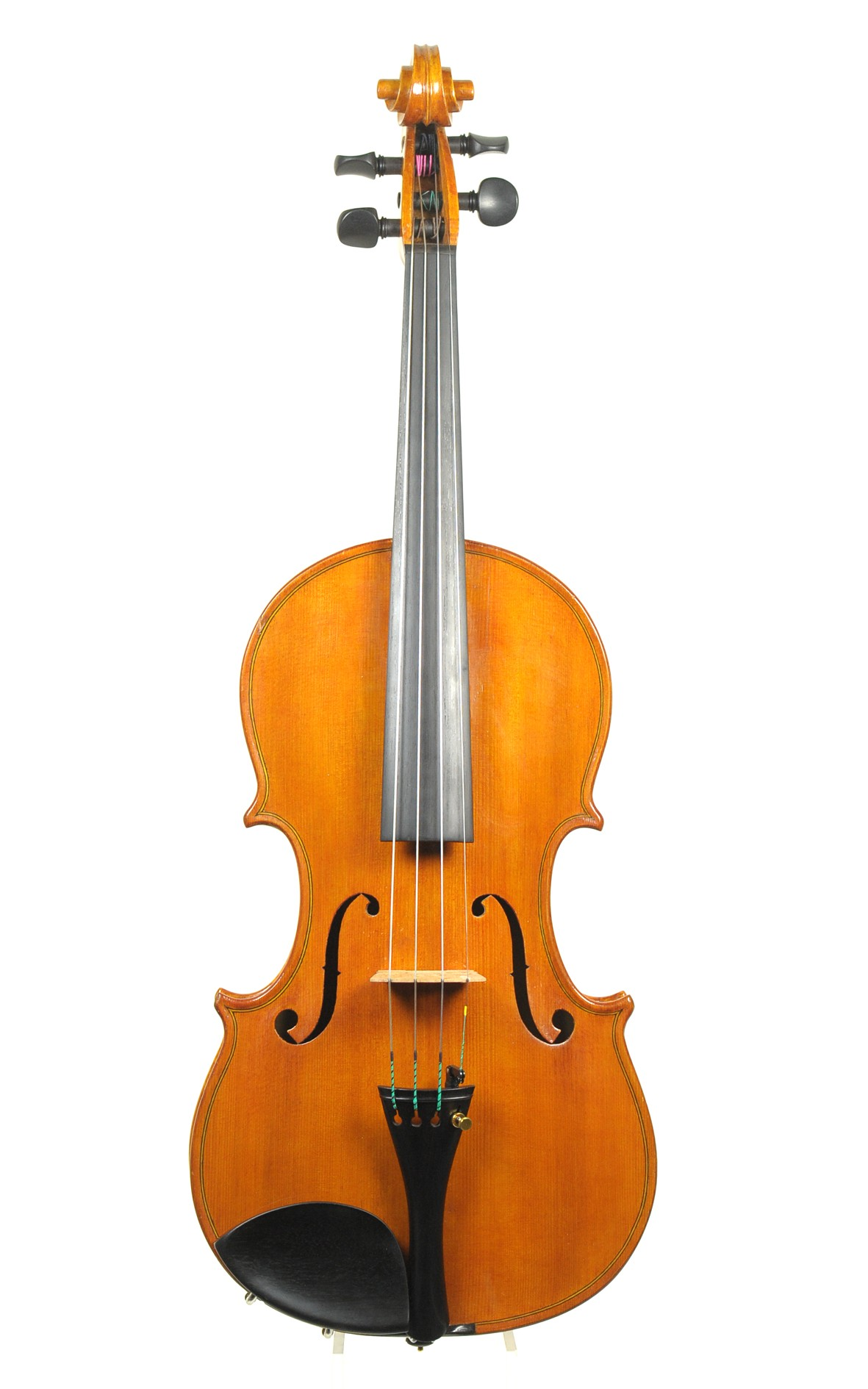 Italian violin, Luigi Agostinelli, 1953  - violin top view