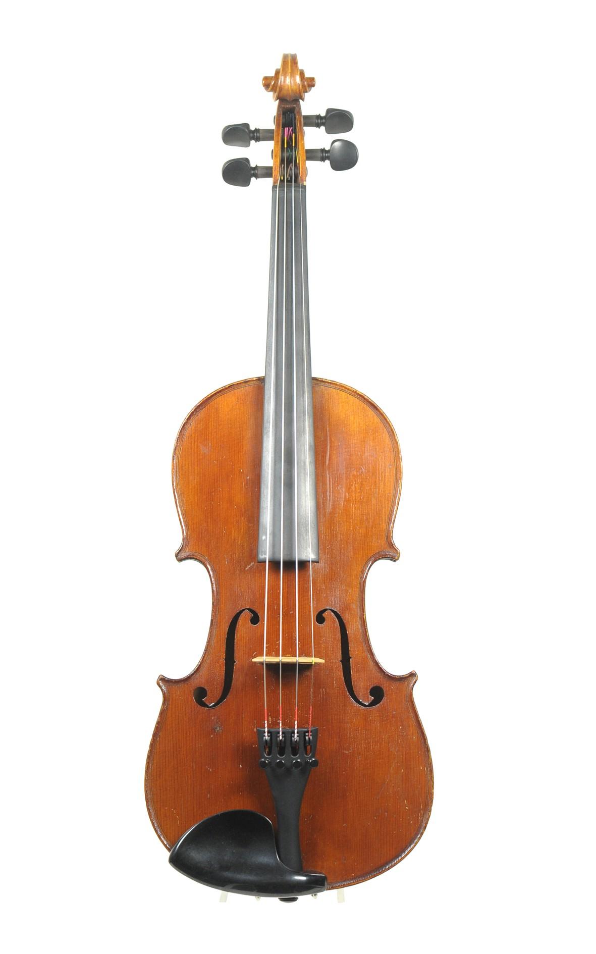 Alte Mittenwalder 3/4 Geige um 1900 - Decke