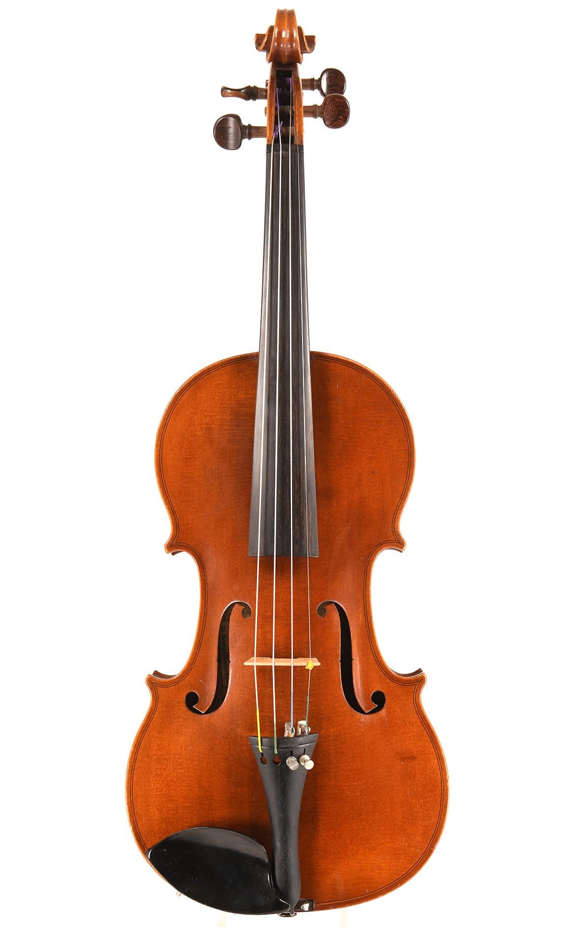 "French Mirecourt violin, trademark ""Nicolas Bertholini"", Laberte"