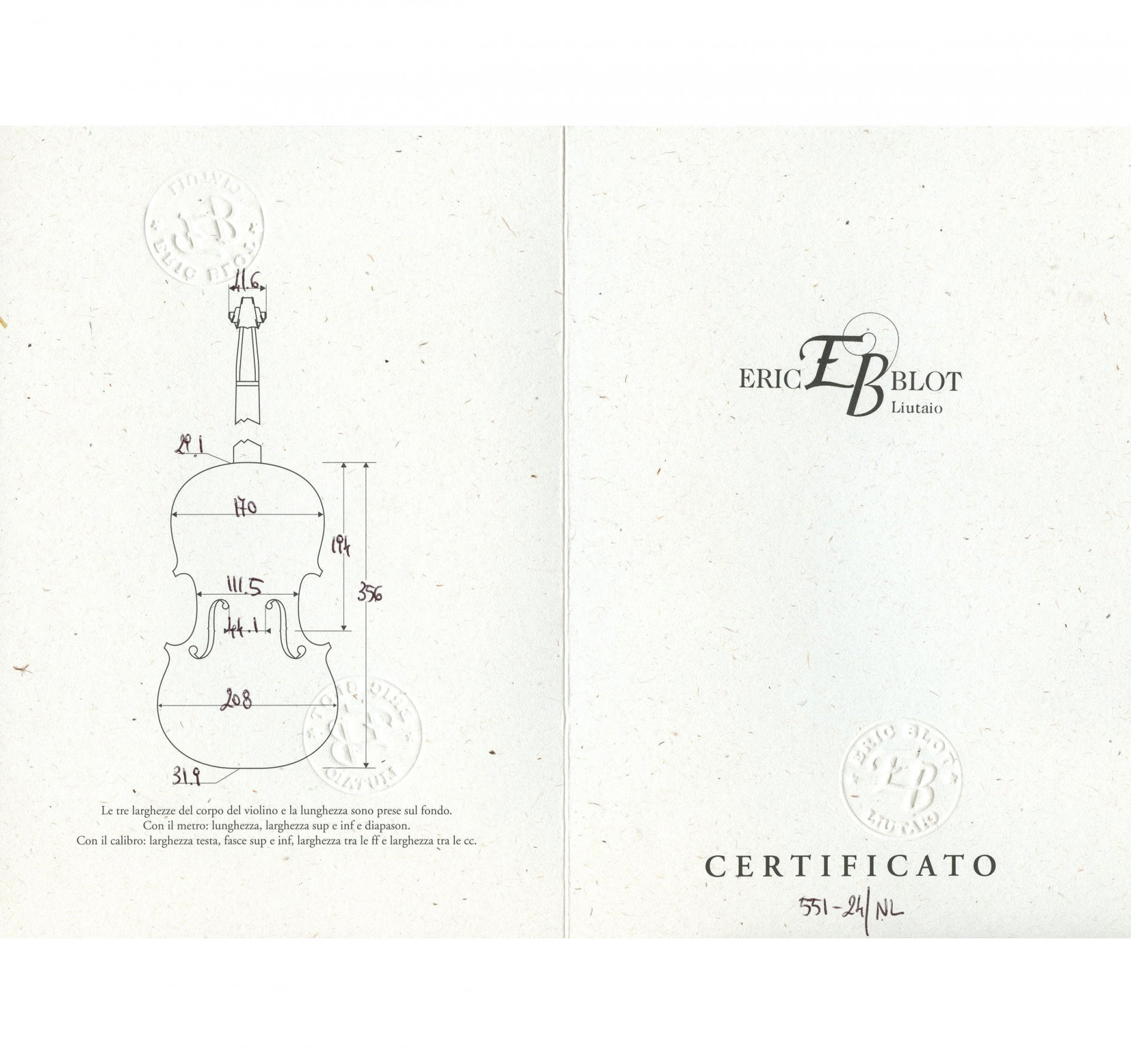 Eric Blot certificate