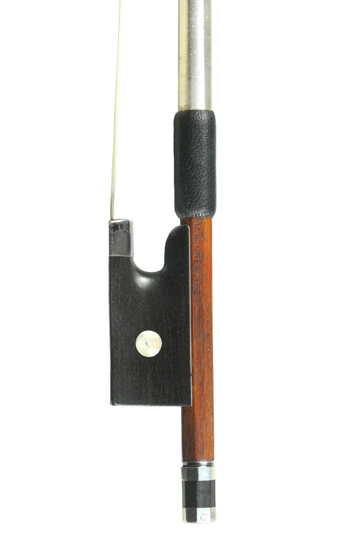 German violin bow, silver mounted, M. Winterling - frog