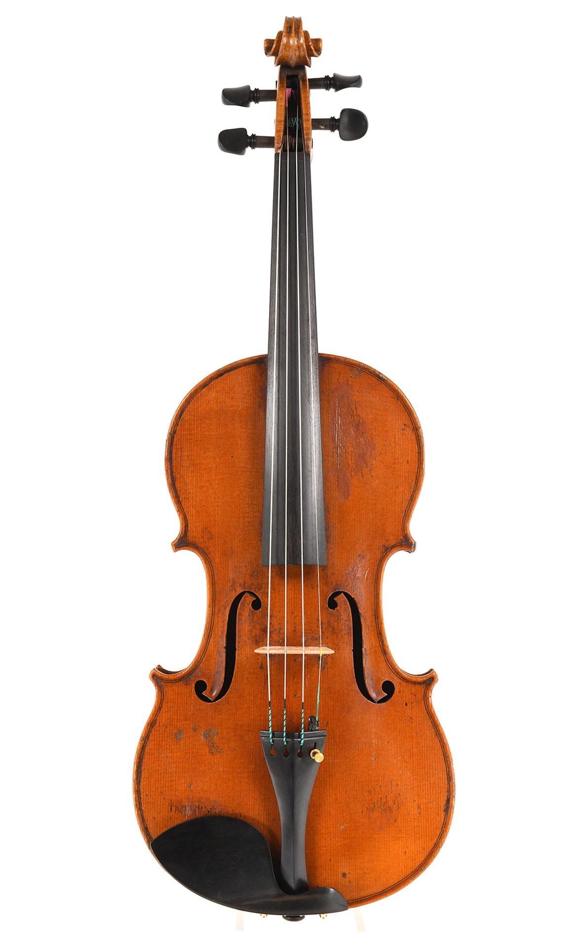 Interessante historische Violine von Grandjon Pere, Mirecourt