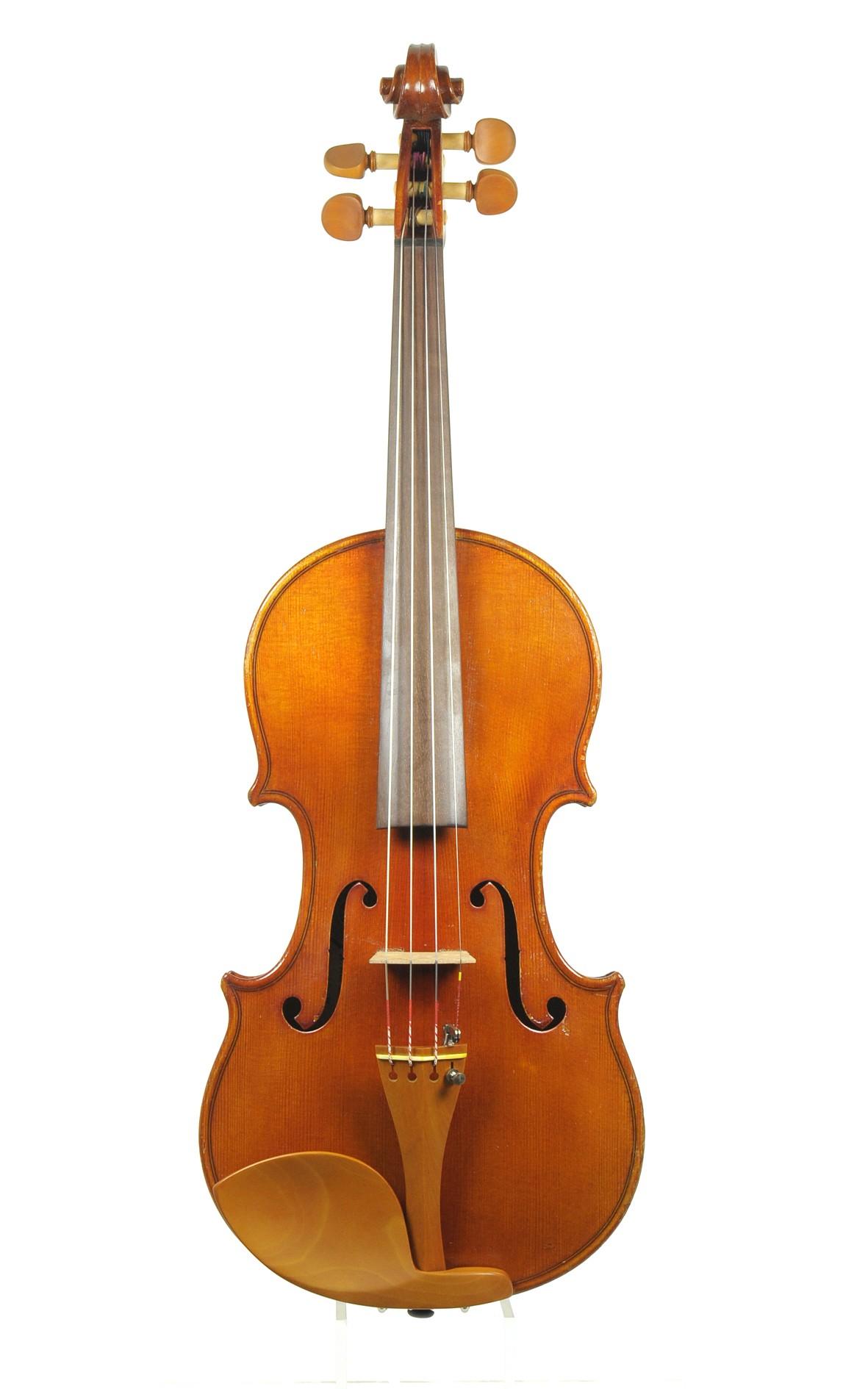 Old German violin, Saxony approx. 1910 - top view