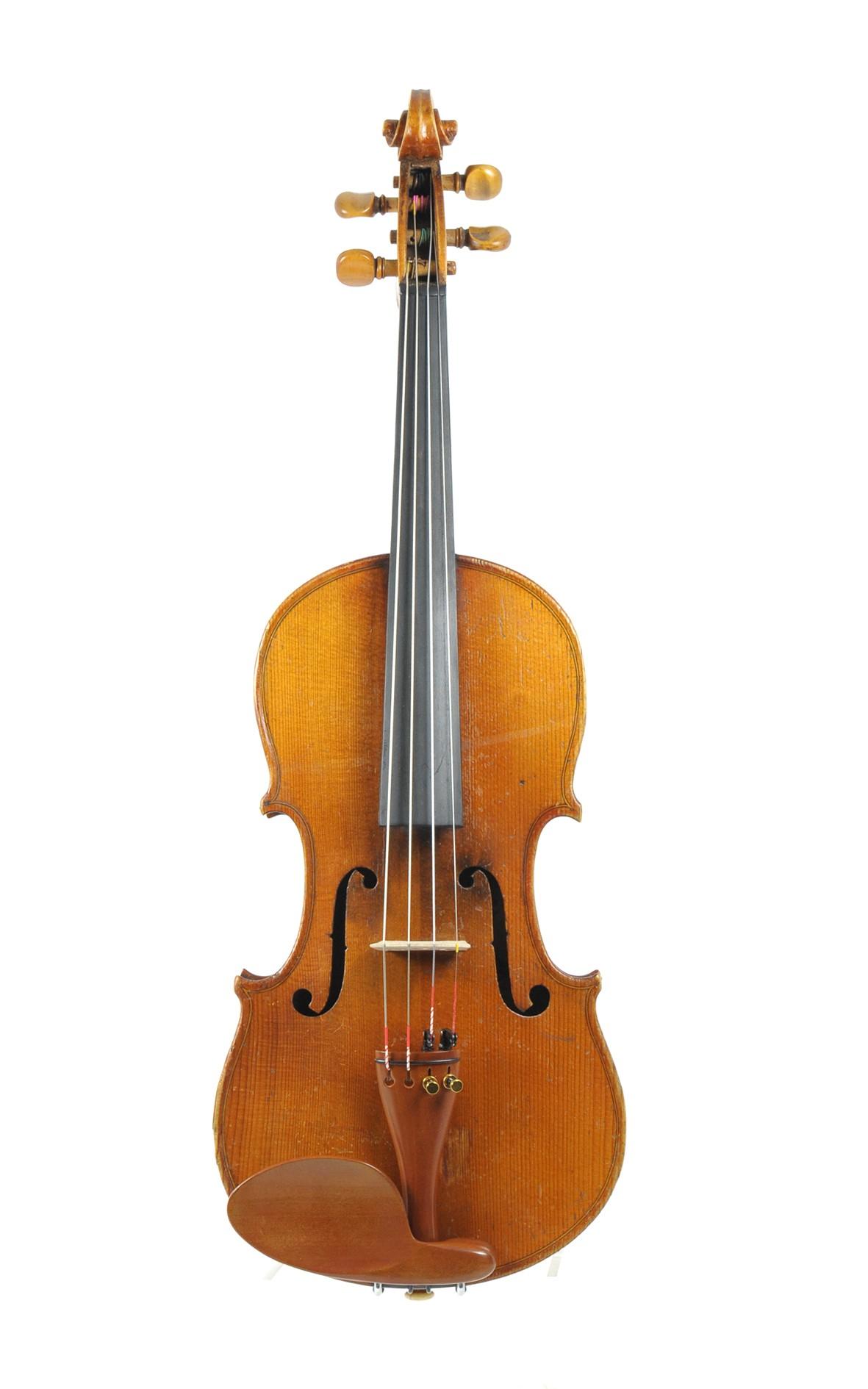 3/4 sized antique violin, presum. England - top
