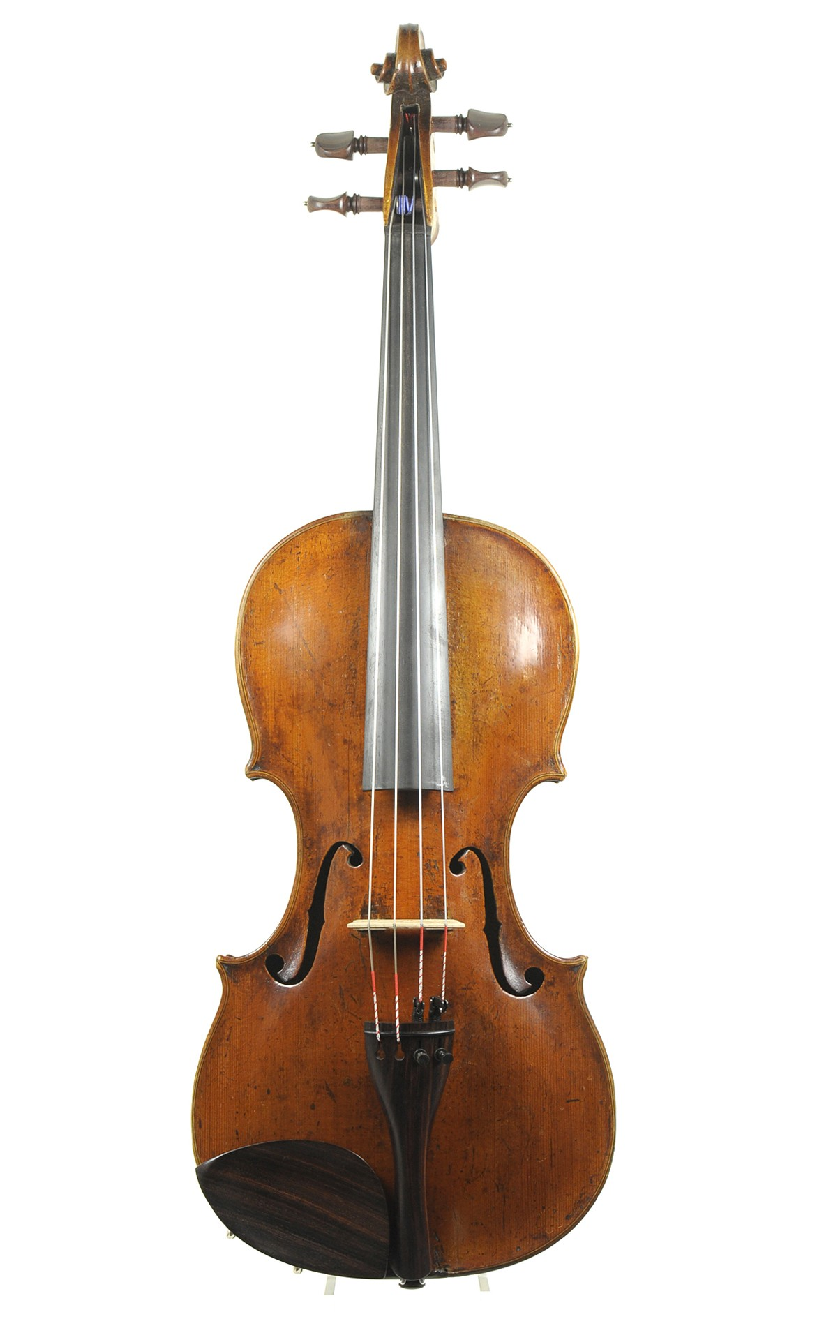Fine Markneukirchen viola, Johann Christian Voigt II, 18th century - table