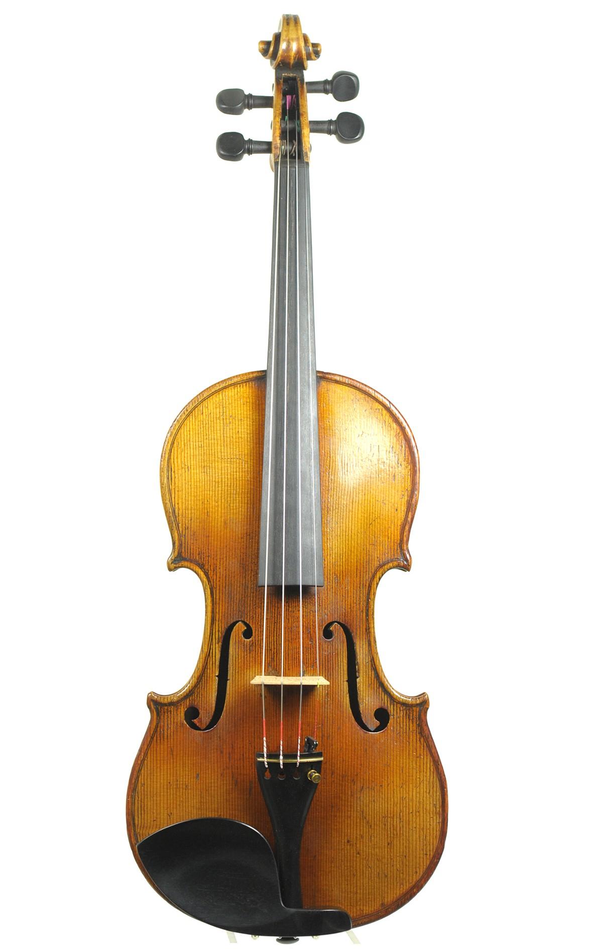 Antique German Markneukirchen violin of quality, after Stradivari