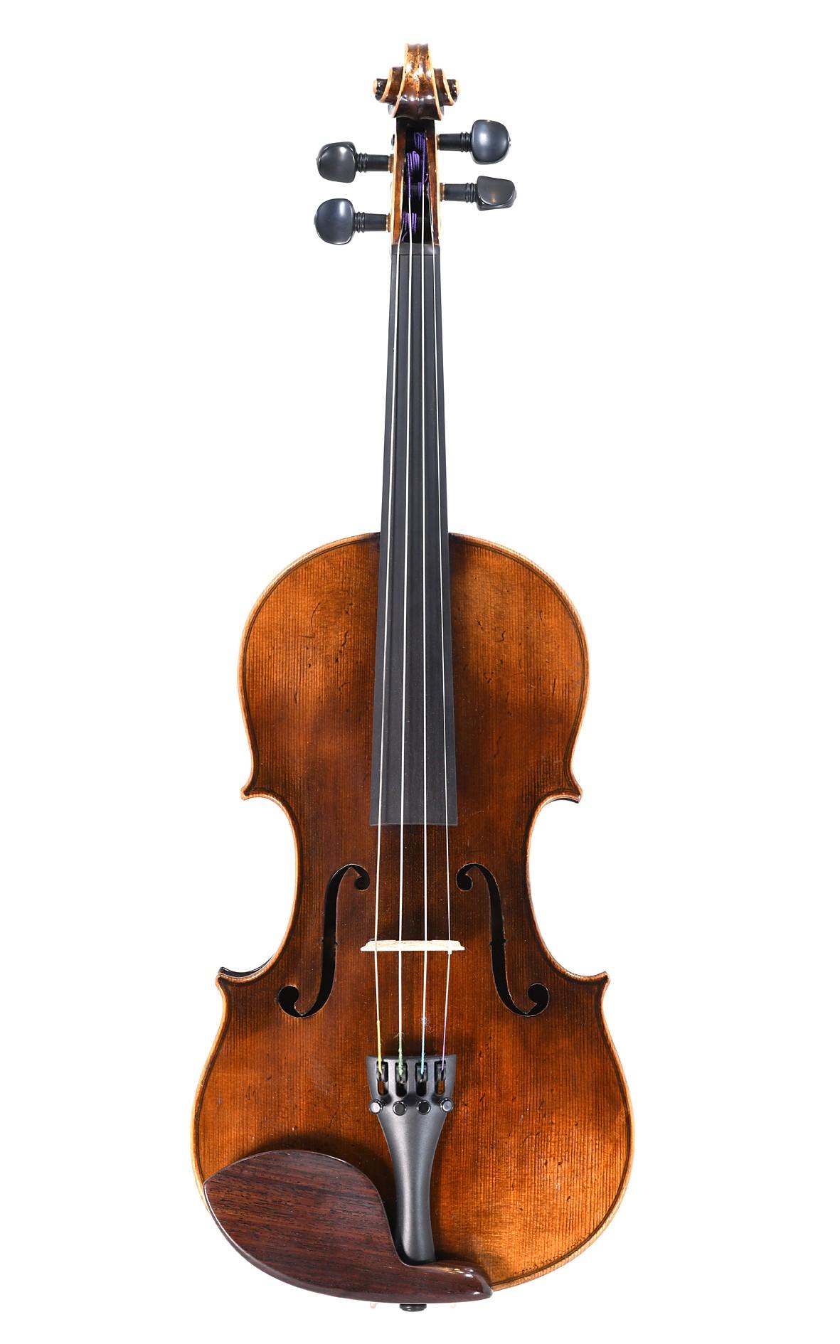 Old Markneukirchen violin with a bright, brilliant sound
