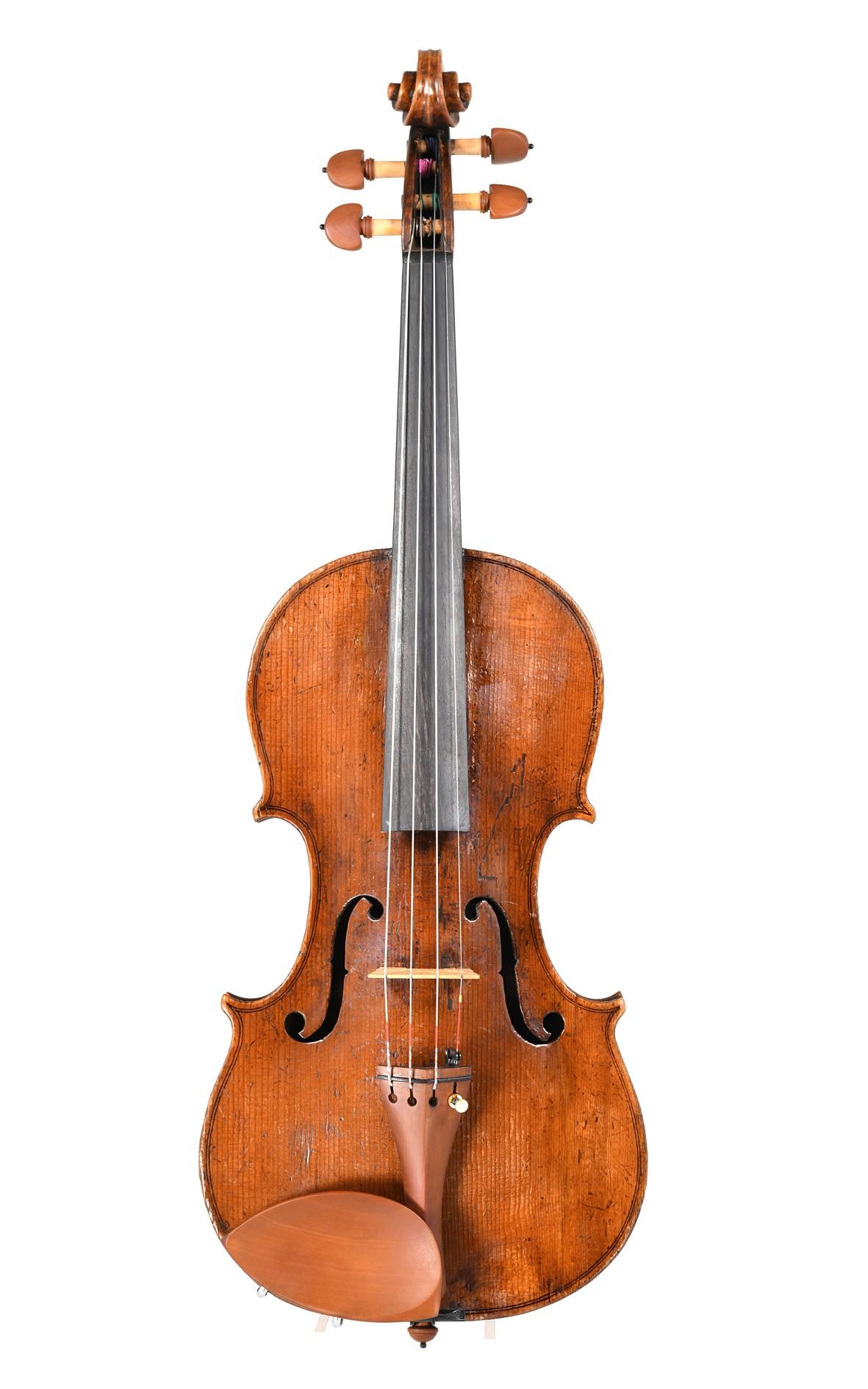 James Preston, English violin, late 18th century - top
