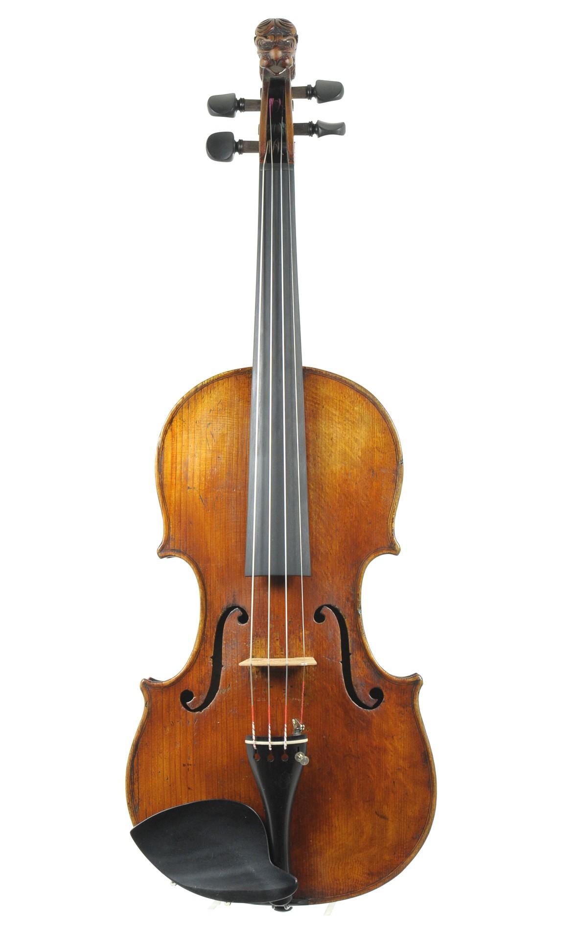 Lion head violin, England approx. 1850 - top