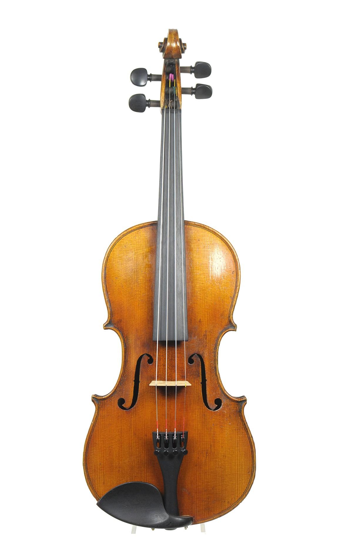 August Clemens Glier, old German 3/4 violin - top