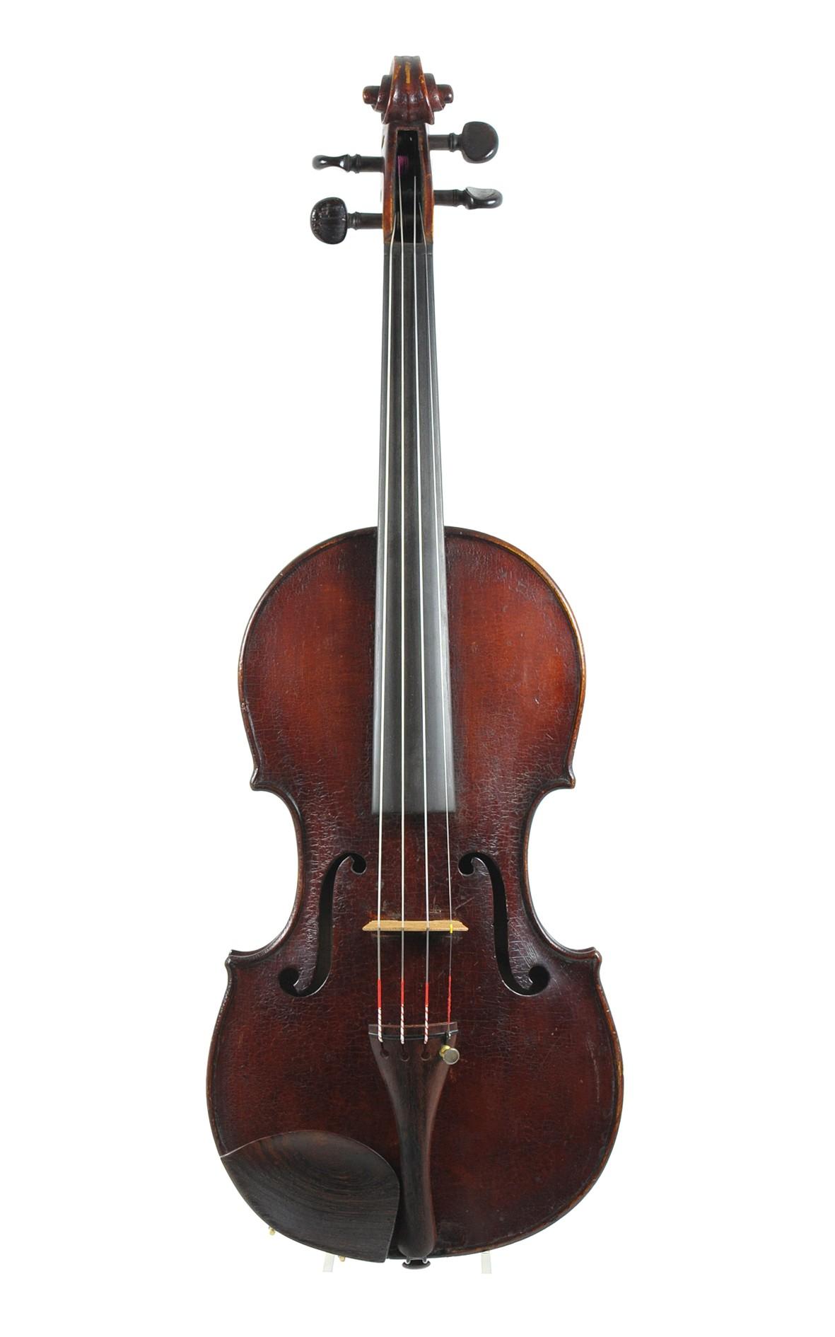Interesting old English violin, 1907