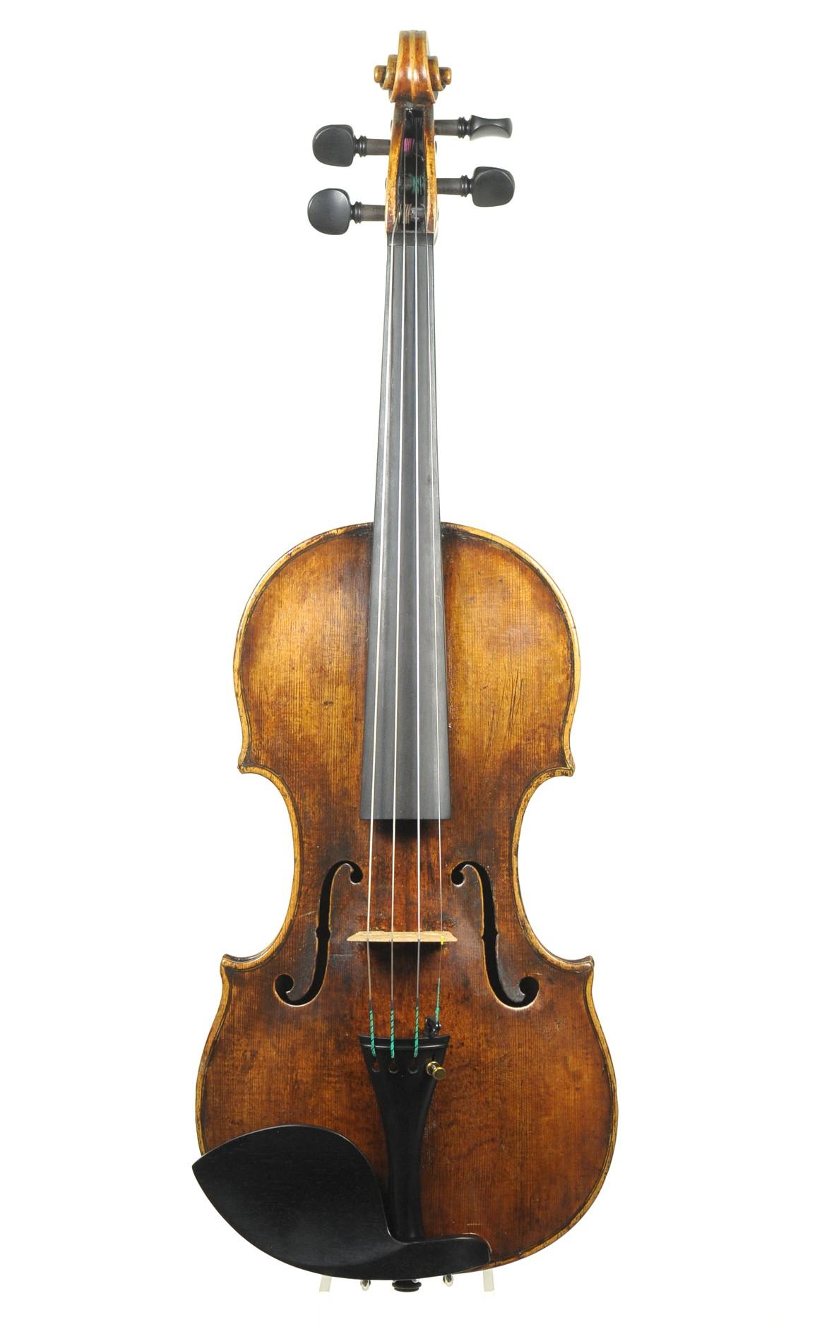 Georg II Carl Klotz: reife Mittenwalder Violine um 1780 - Decke