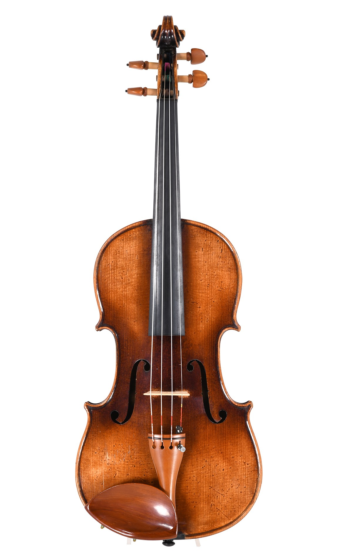 Old German violin with a warm, powerful sound - top