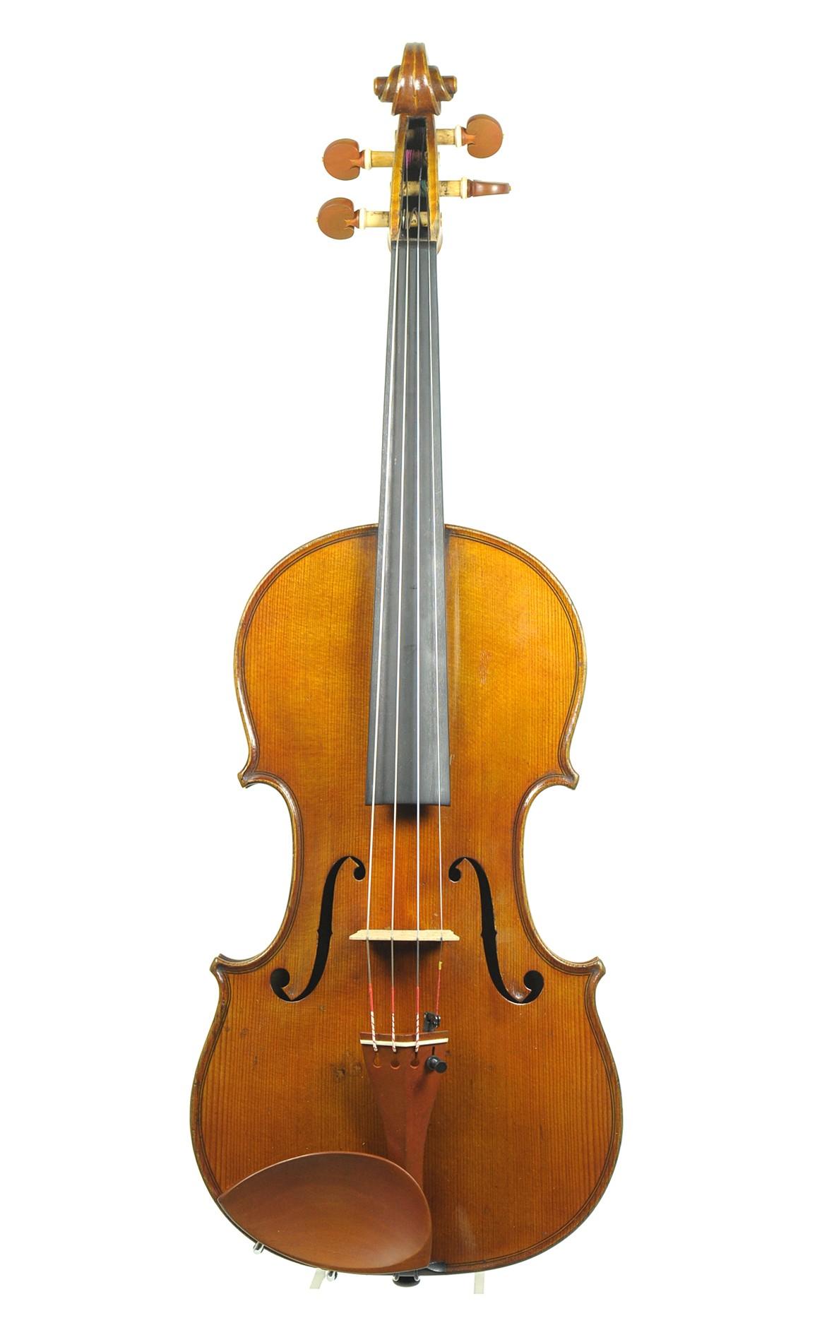German-English violin, Arnold Voigt, approx. 1890 - top