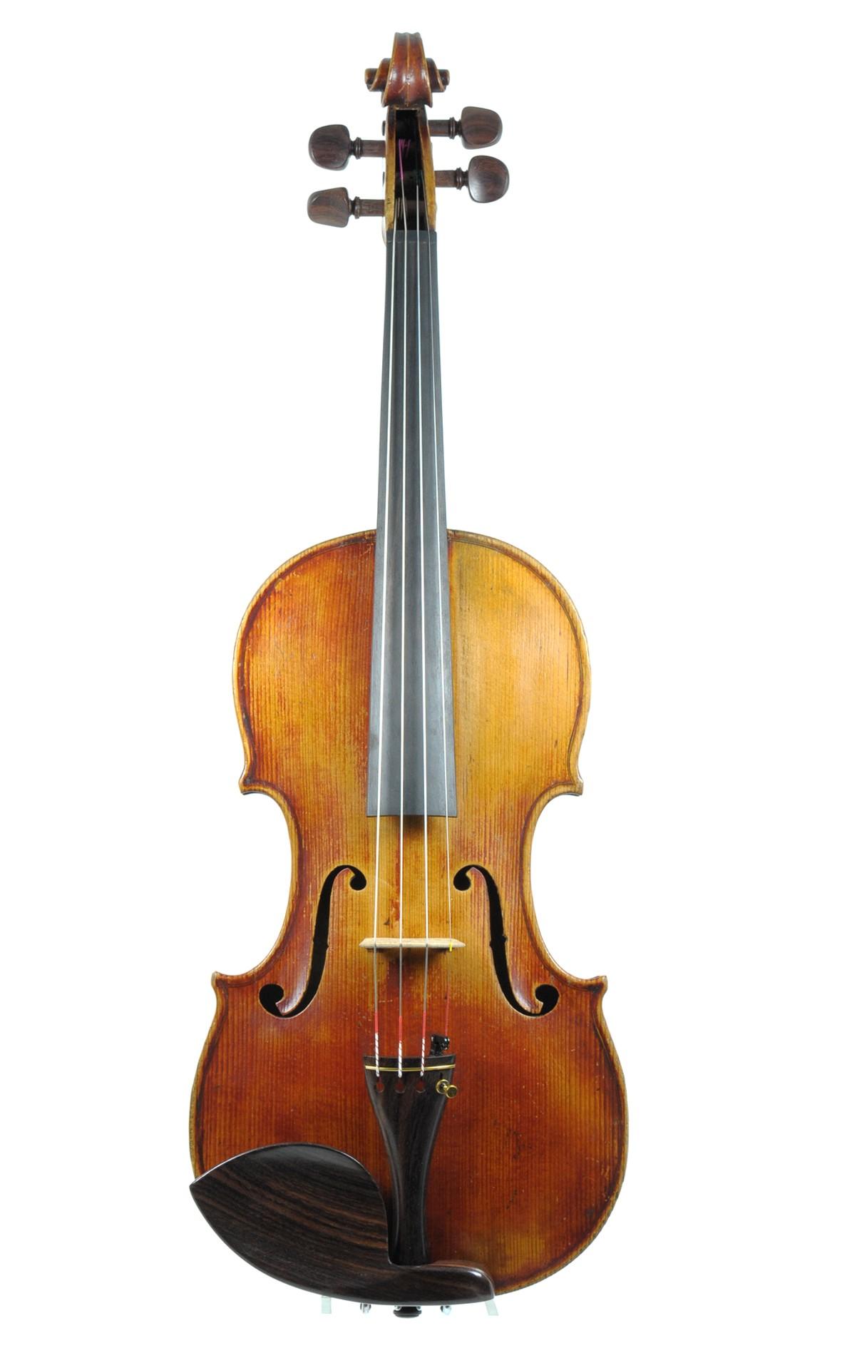 Charotte Pere Mirecourt violin - top