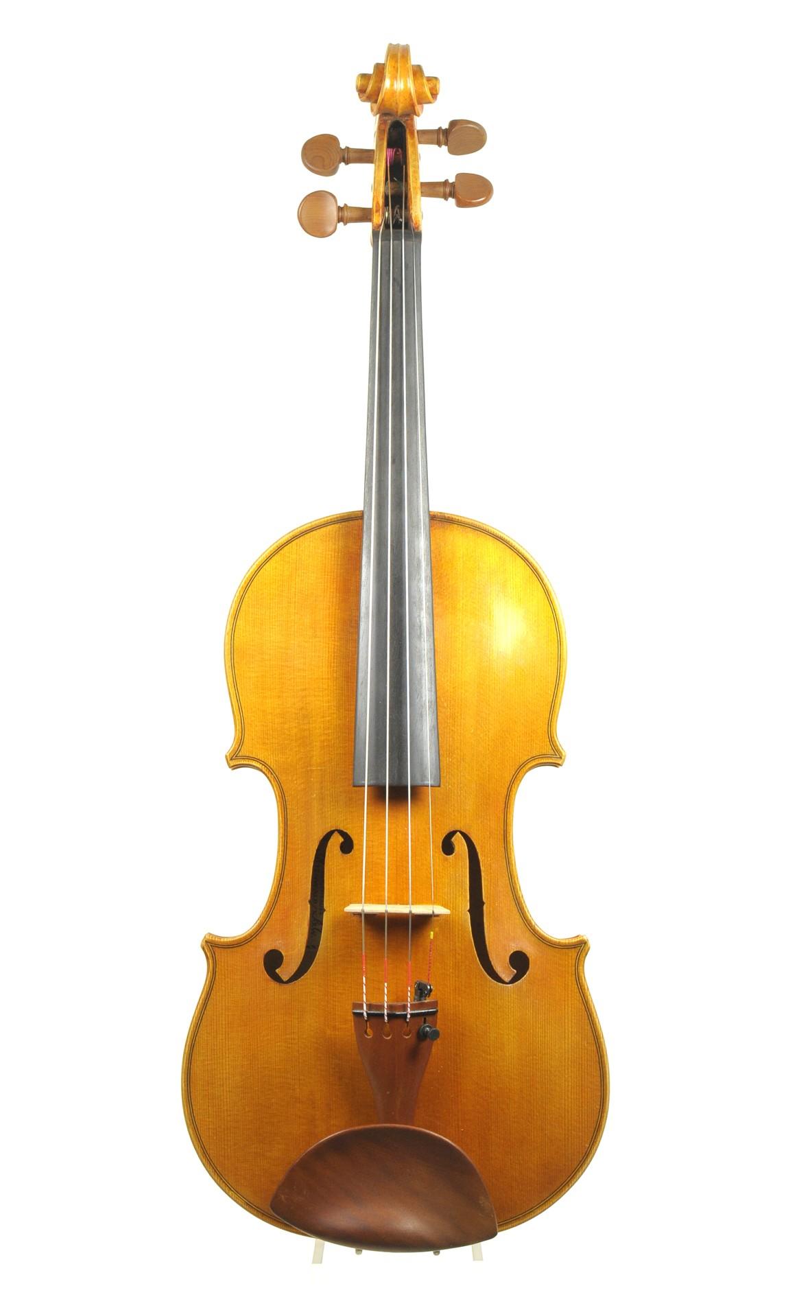 Mittenwald violin by Matthias Klotz 1981 - table
