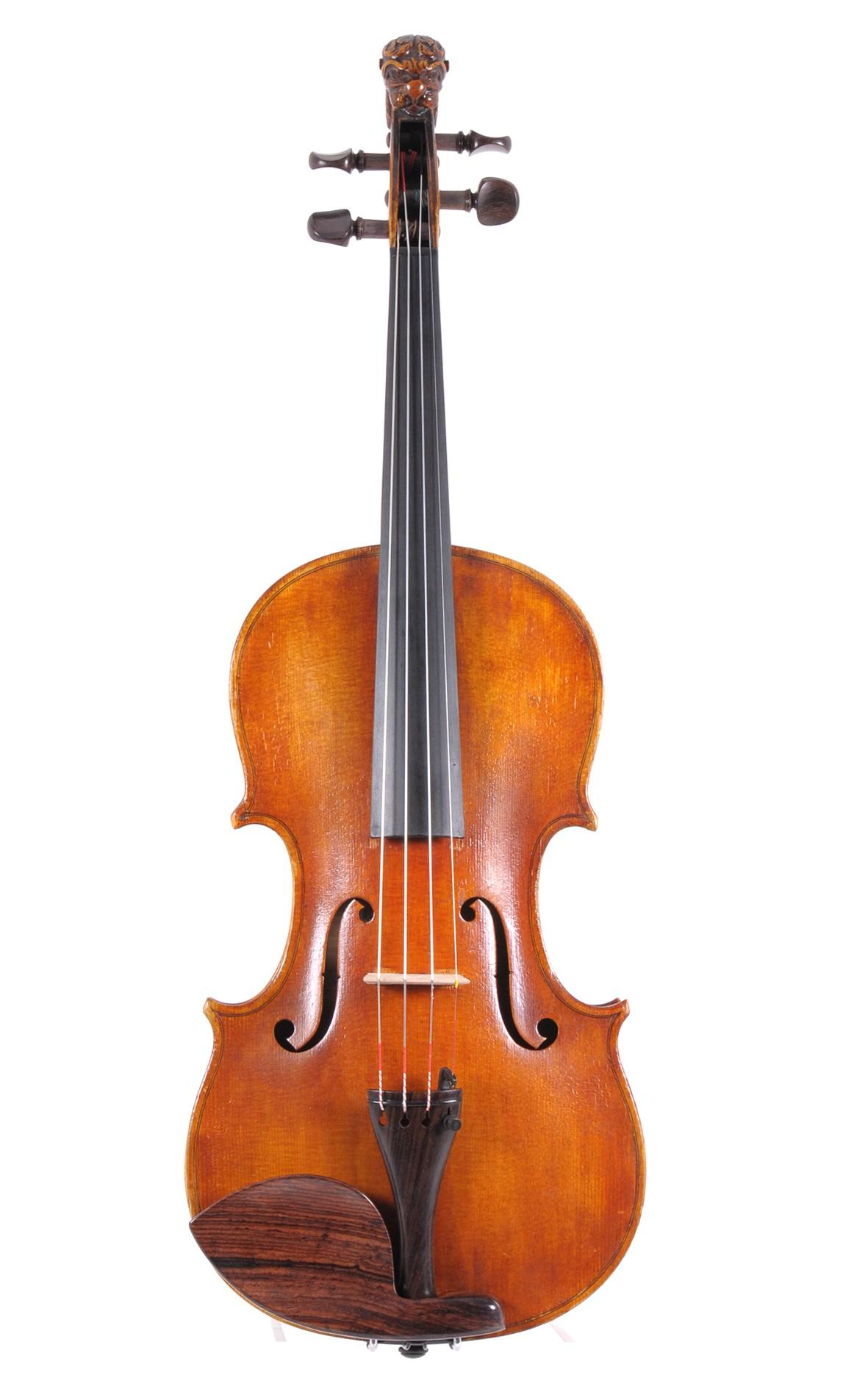 Lion head violin by Andreas Ebner, München, 1910