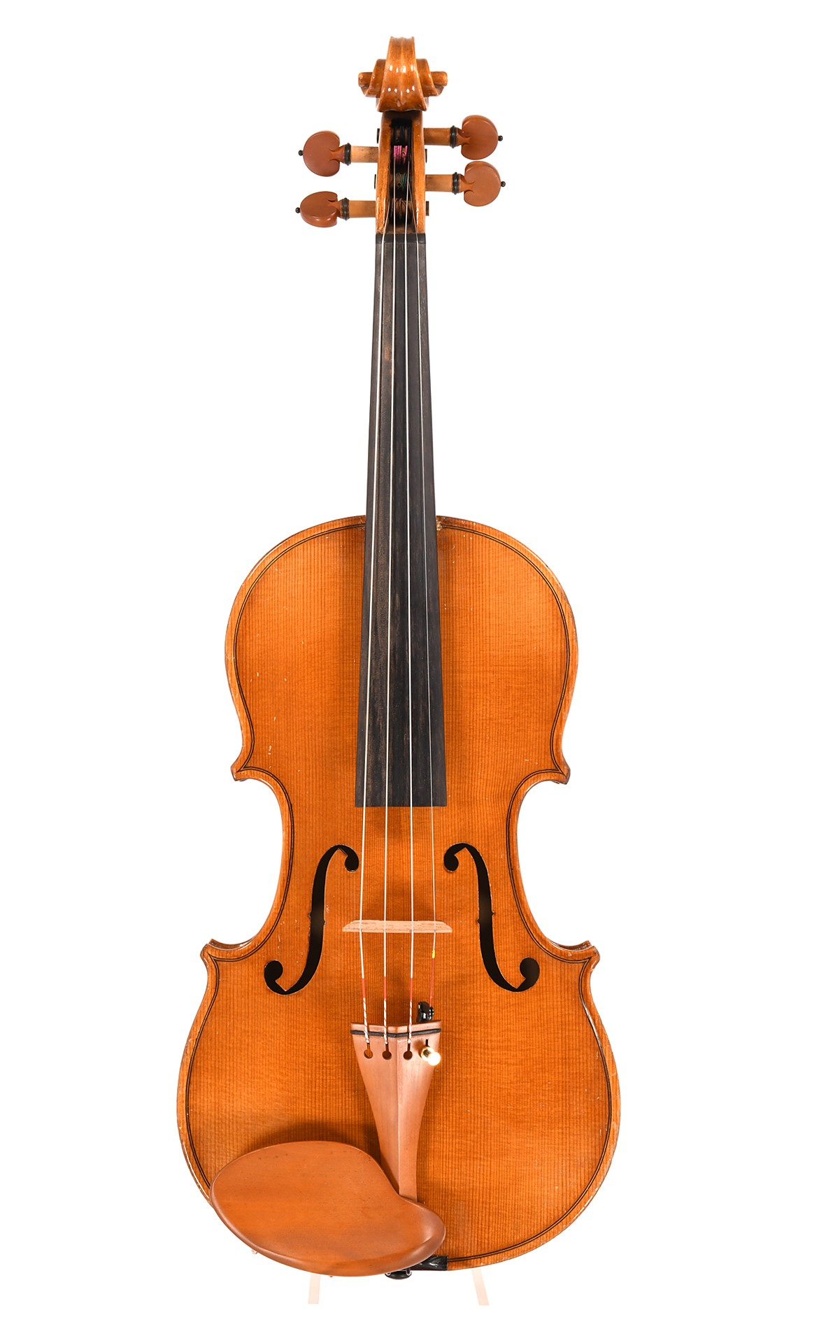 Older German violin - two piece top of widely grained spruce
