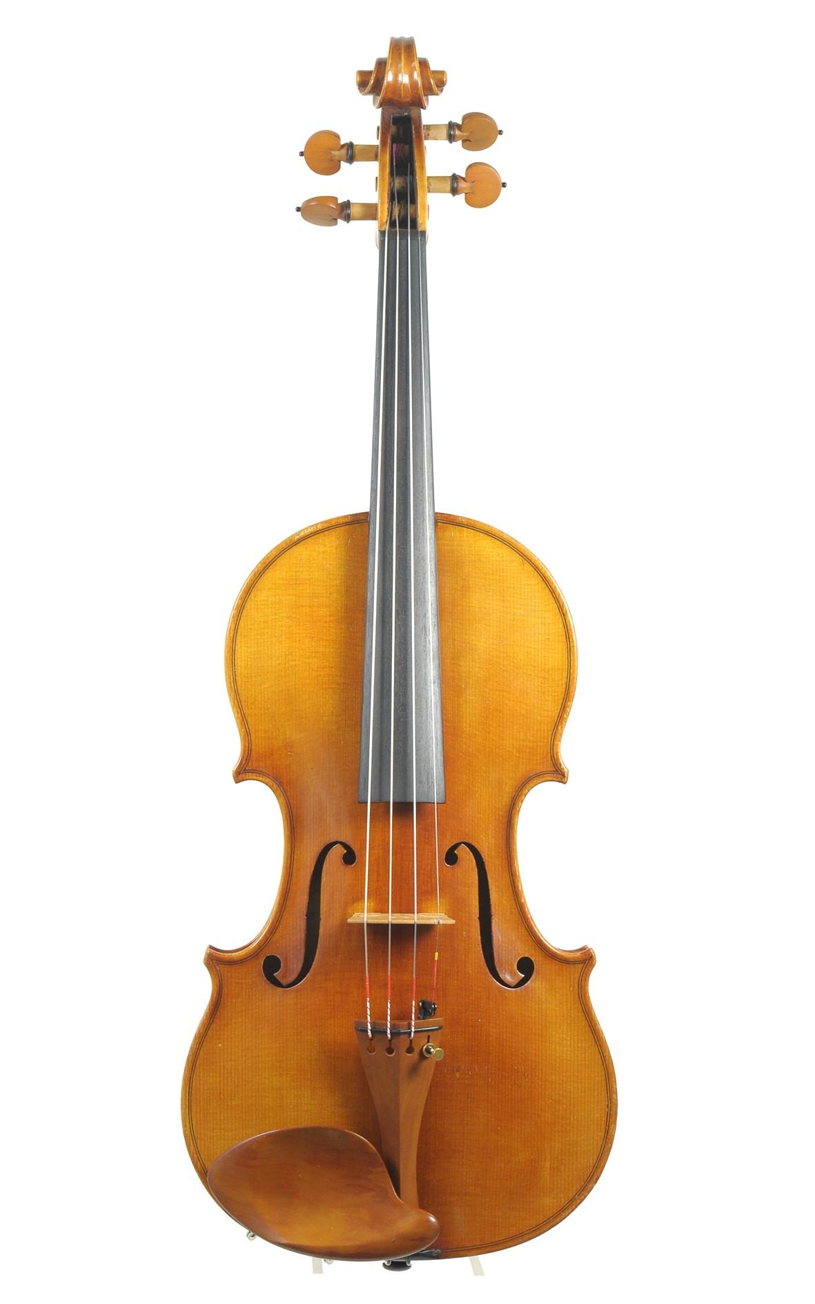 Elegant, brilliant sounding Saxonian violin, subtly antiqued