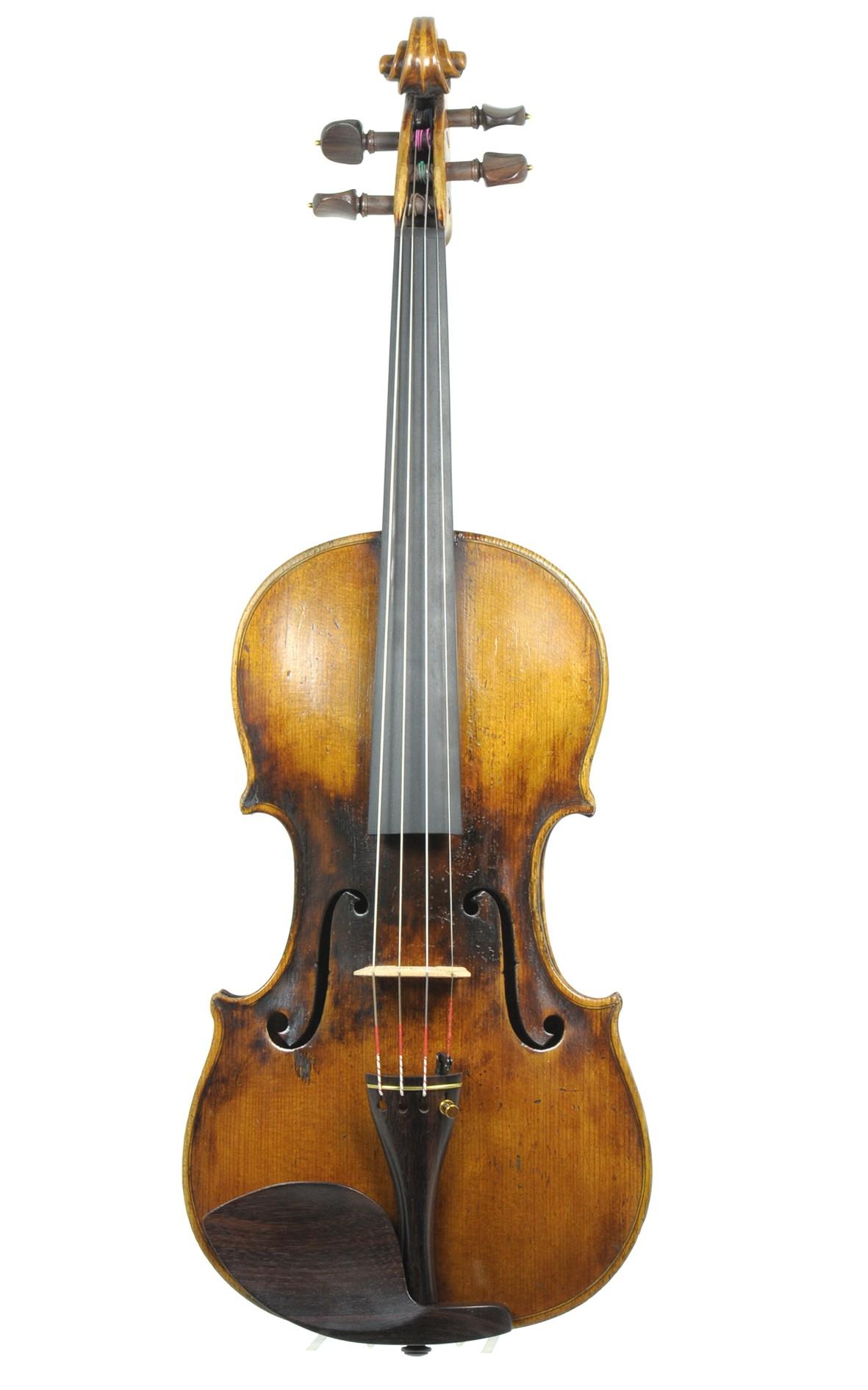 Antique violin, Hermann Meinel - top