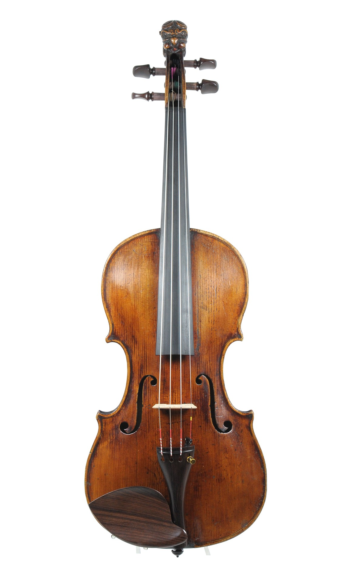Antique lion head violin, Mittenwald ca. 1850 - table