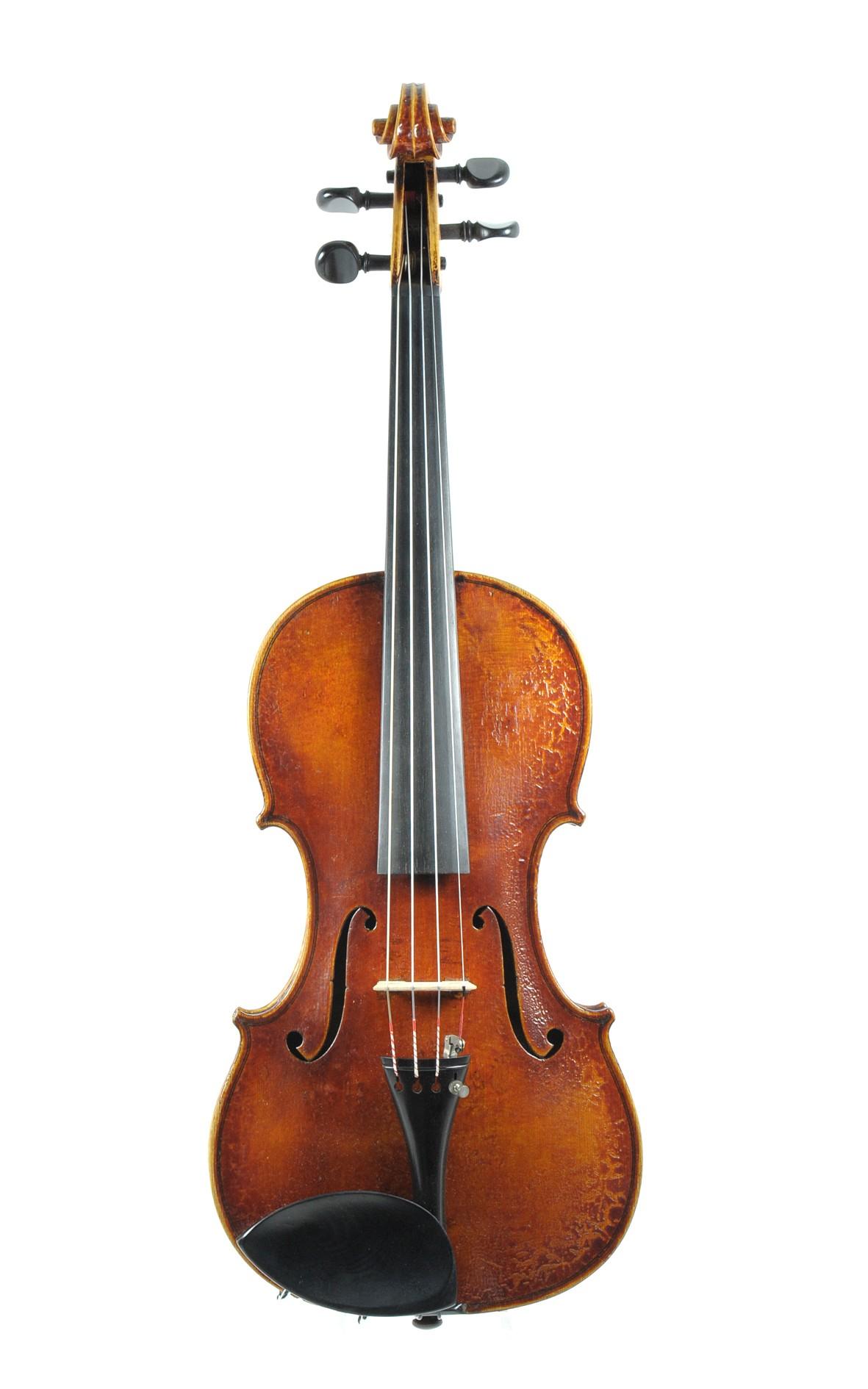 7/8 master violin, E. Willis, 1913 - top