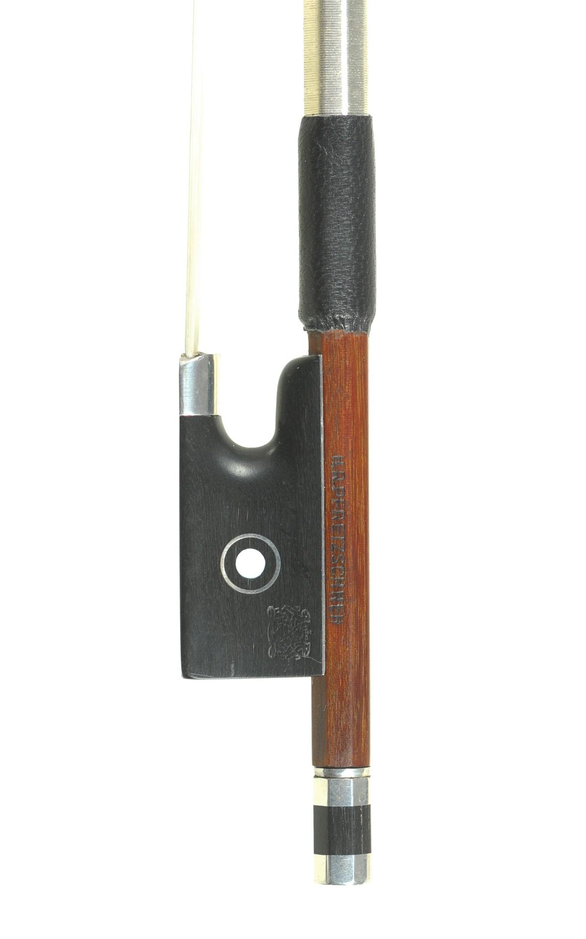 HR Pfretzschner violin bow, Markneukirchen - frog