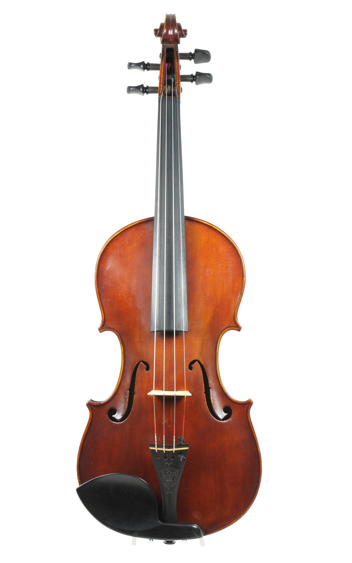 Frank Watson, Rochdale, English violin, No. 38, 1900 - table