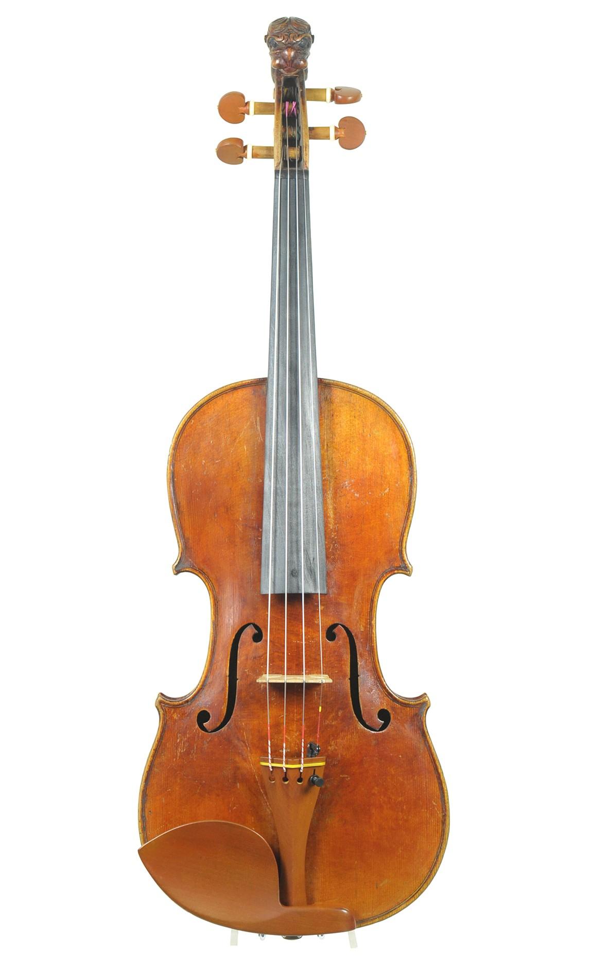 Lion head violin, Mittenwald 19th century