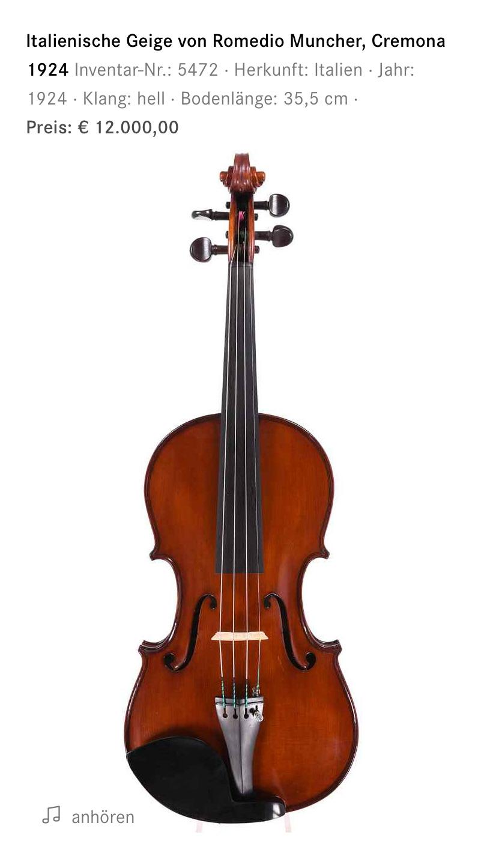 Moderne Geige aus Cremona