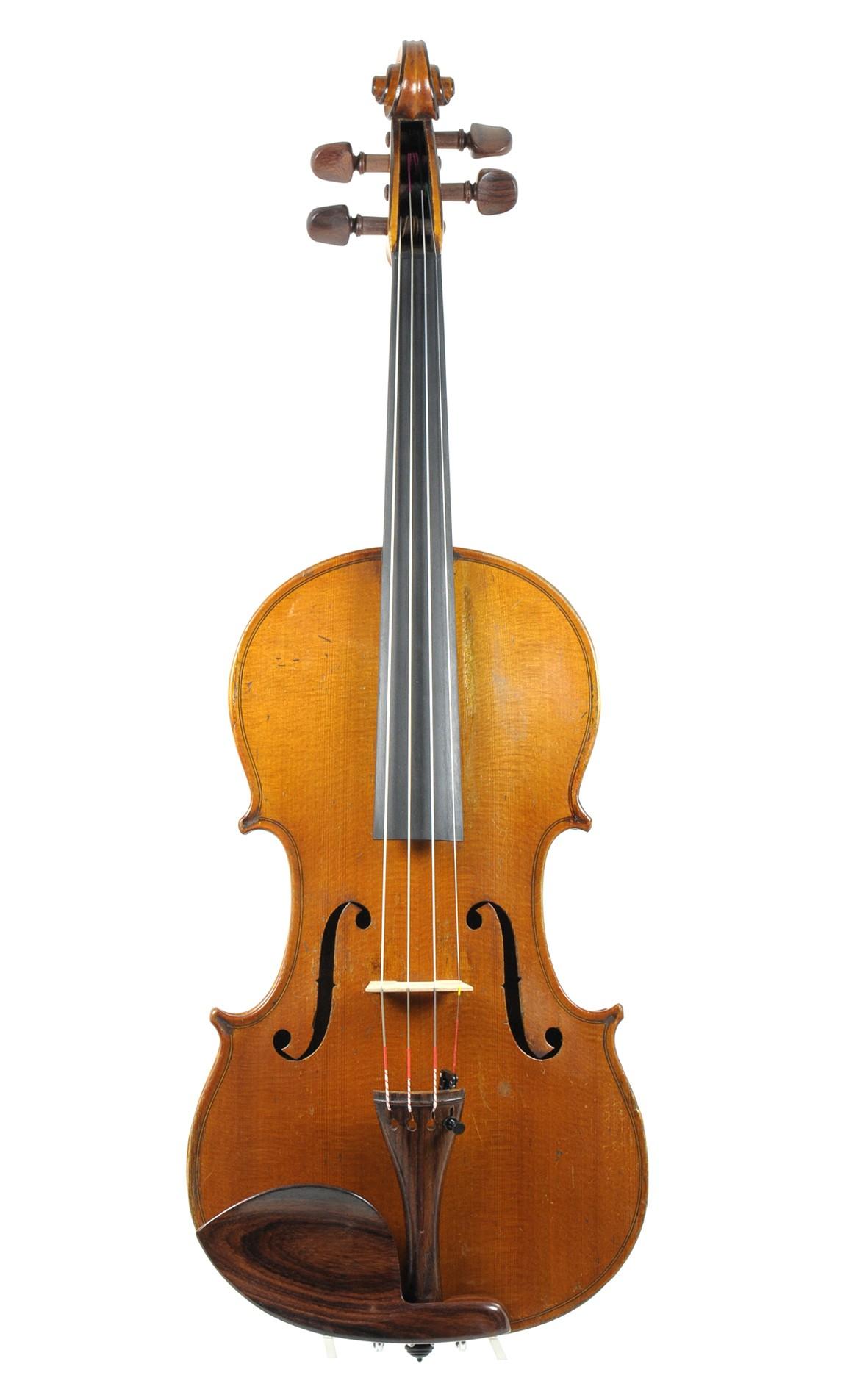 Carl Meyer Markneukirchen label, German violin - top