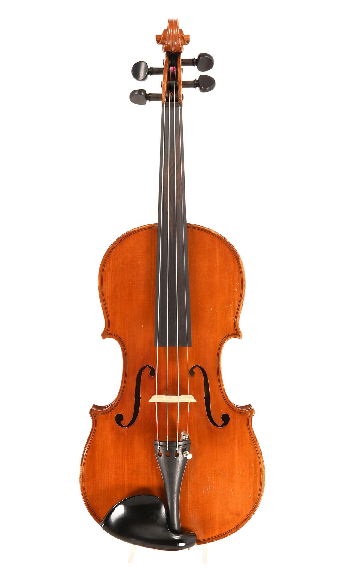 Antike Mittenwalder 7/8 Geige um 1900