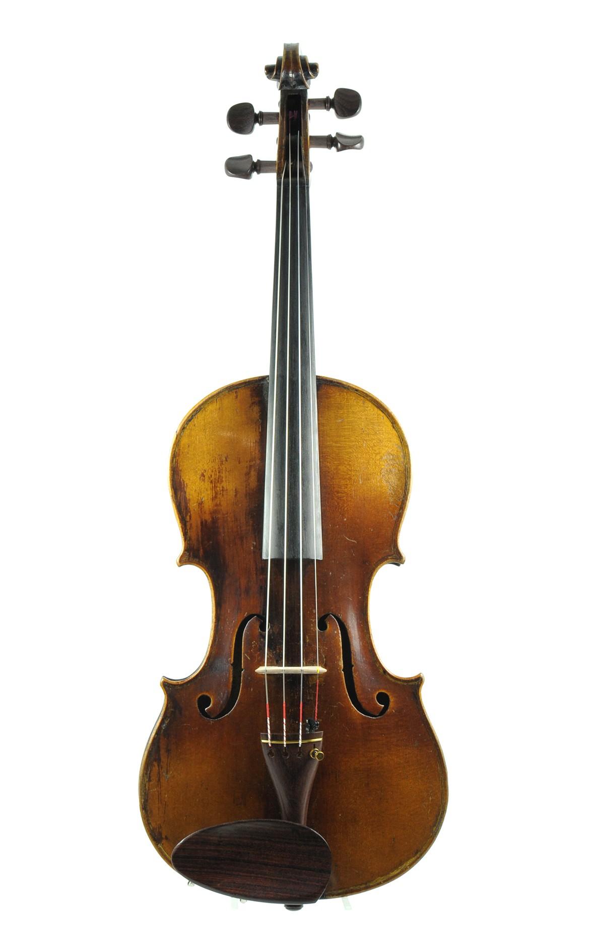 Christian Hoffmann, violin 1879 - top
