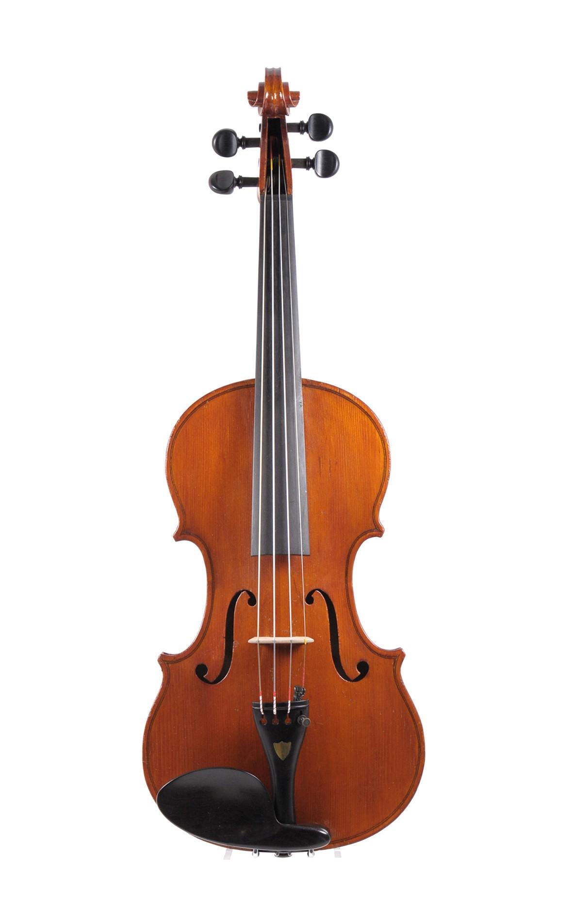 Rare Italian 3/4 violin, Monzino & Figli, Milano - top