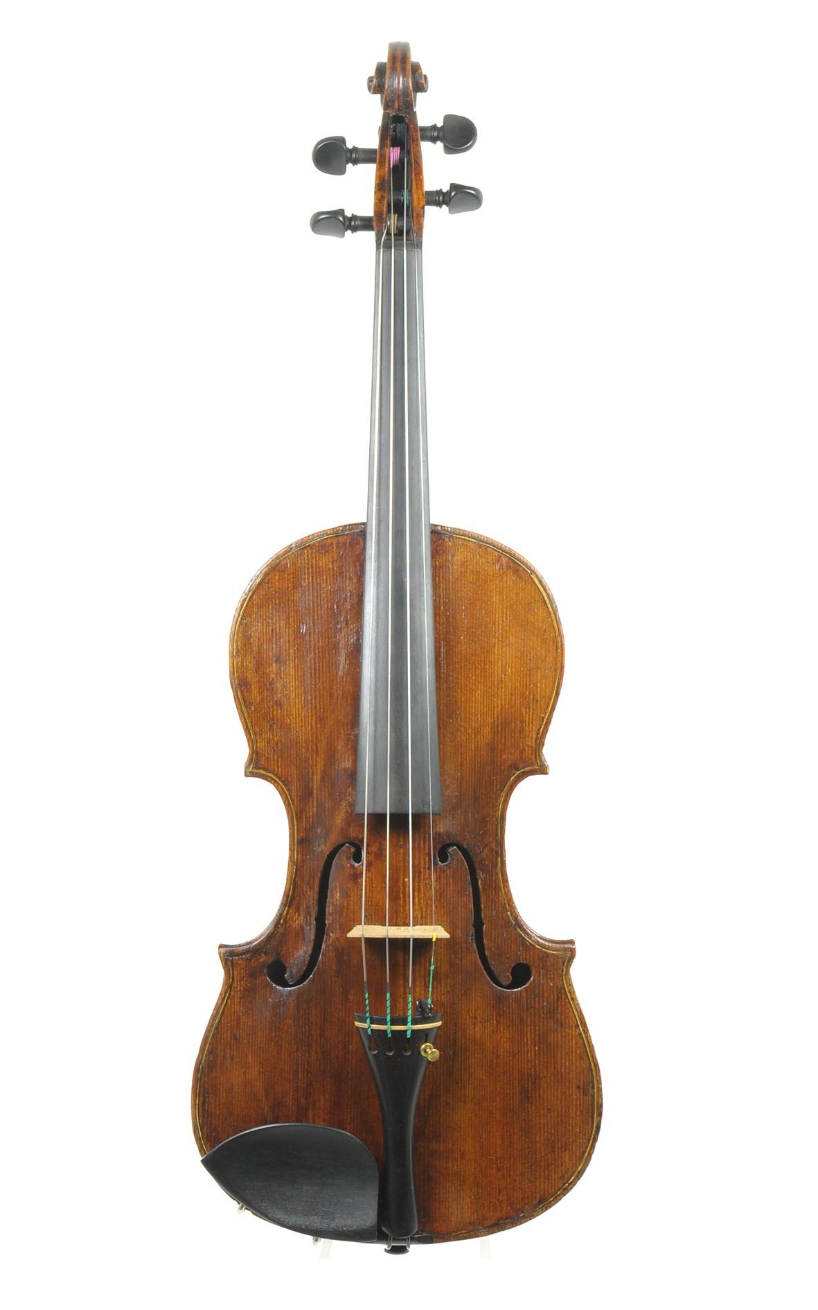 Zentral italienische Geige, spätes 18. Jahrhundert - Decke