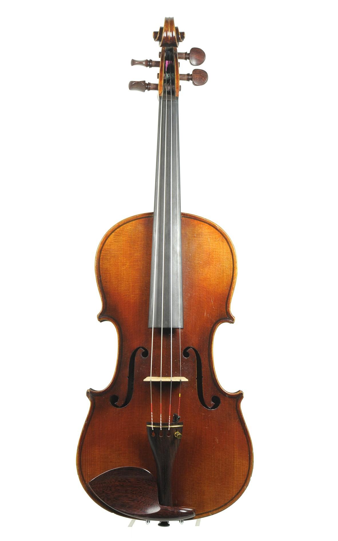 August Clemens Glier, Markneukirchen, violin approx. 1900 - top