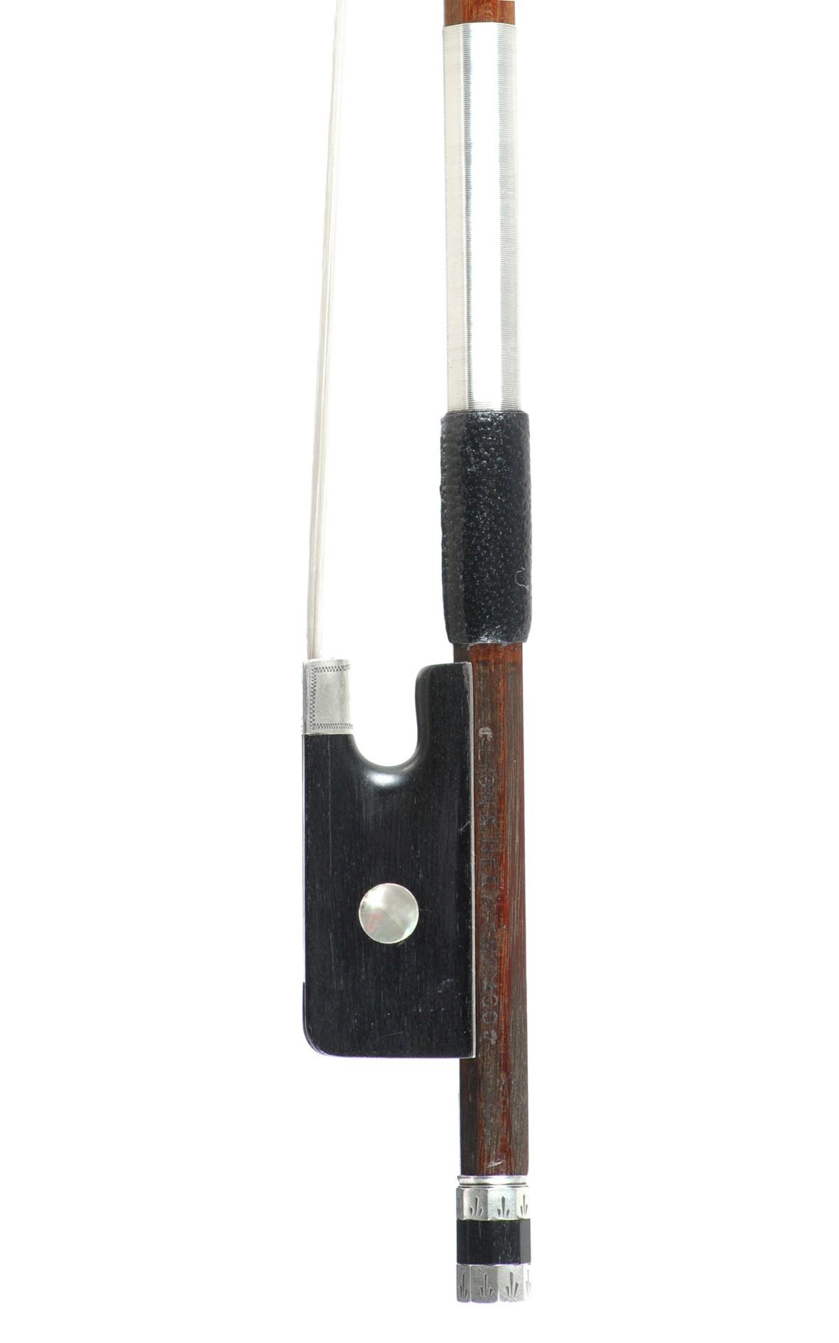 Lyon & Healy Chicago, German violin bow ca. 1900 - frog
