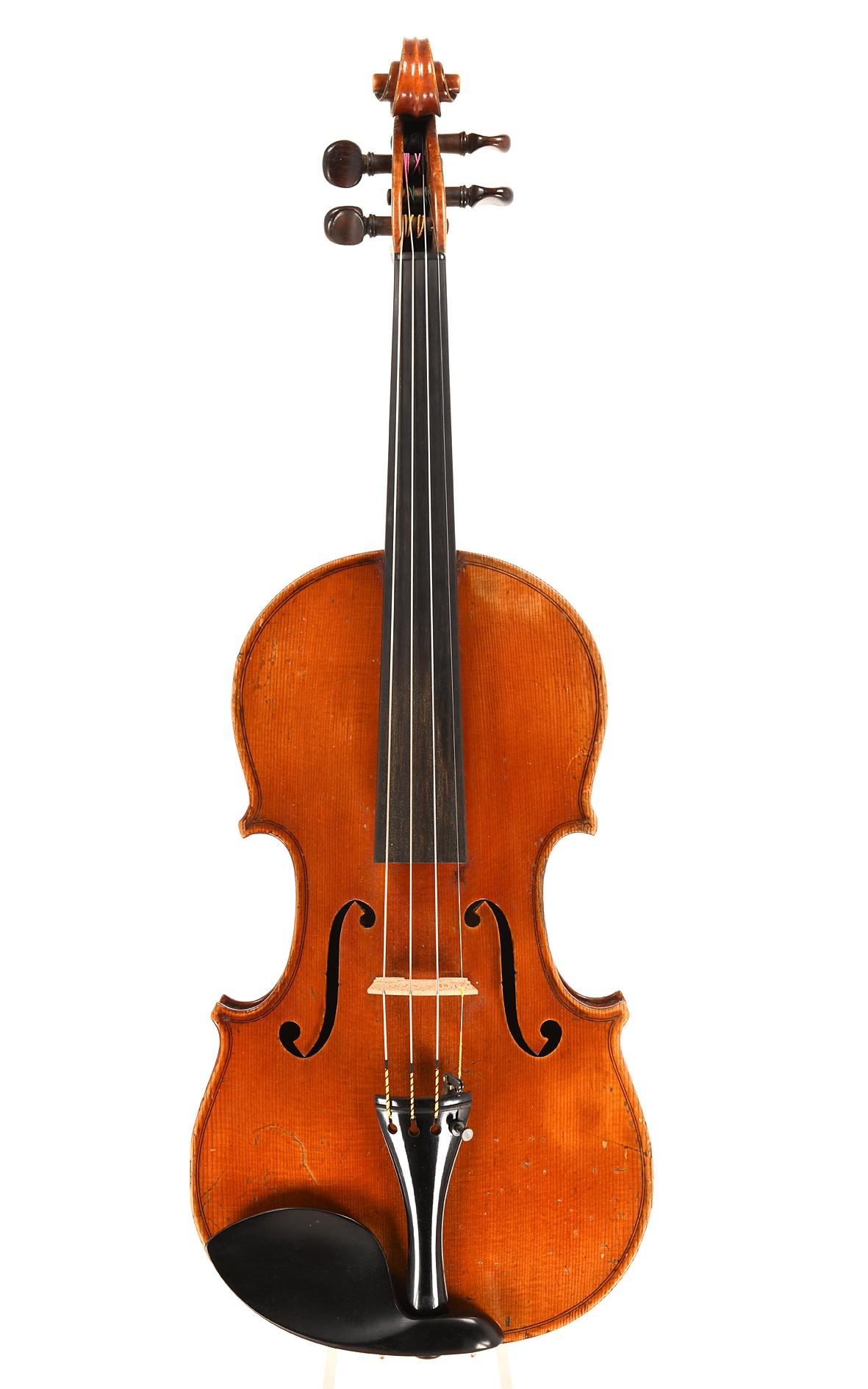 H. Derazey workshop, late 19th century French violin - top