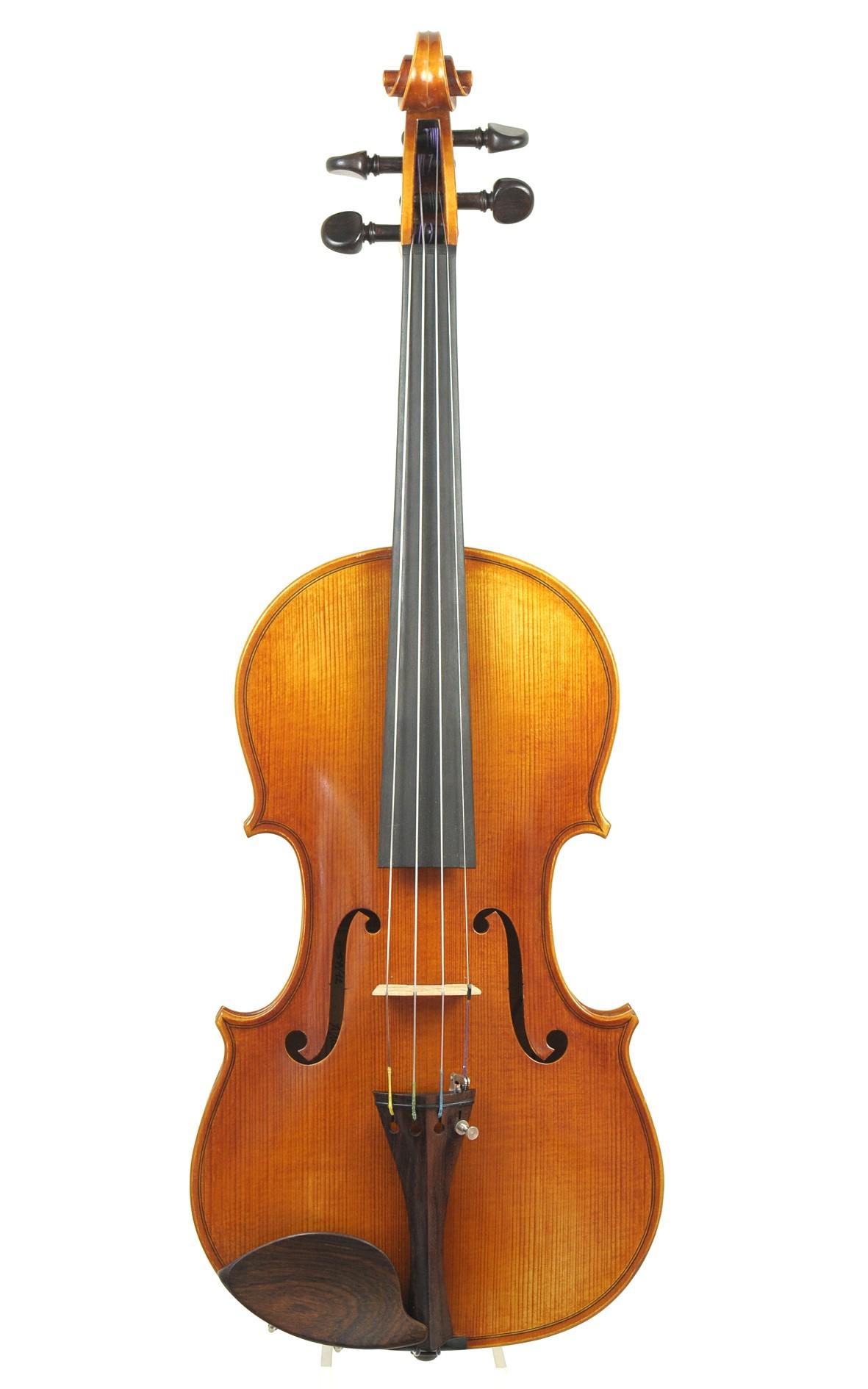 French violin, Alain Moinier, Mirecourt, 1992, No. 57 - top